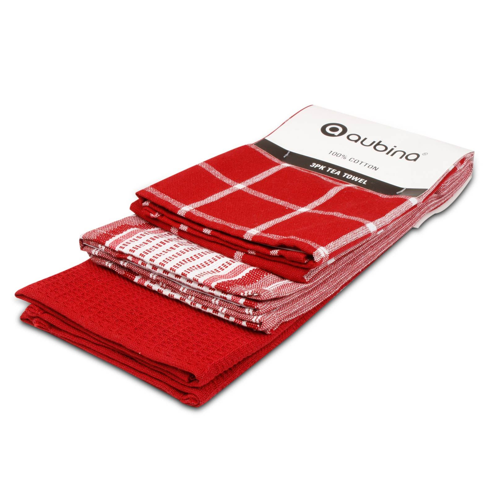 Pack-of-3-Tea-Towels-100-Cotton-Kitchen-Dish-Towel-Drying-Set thumbnail 41