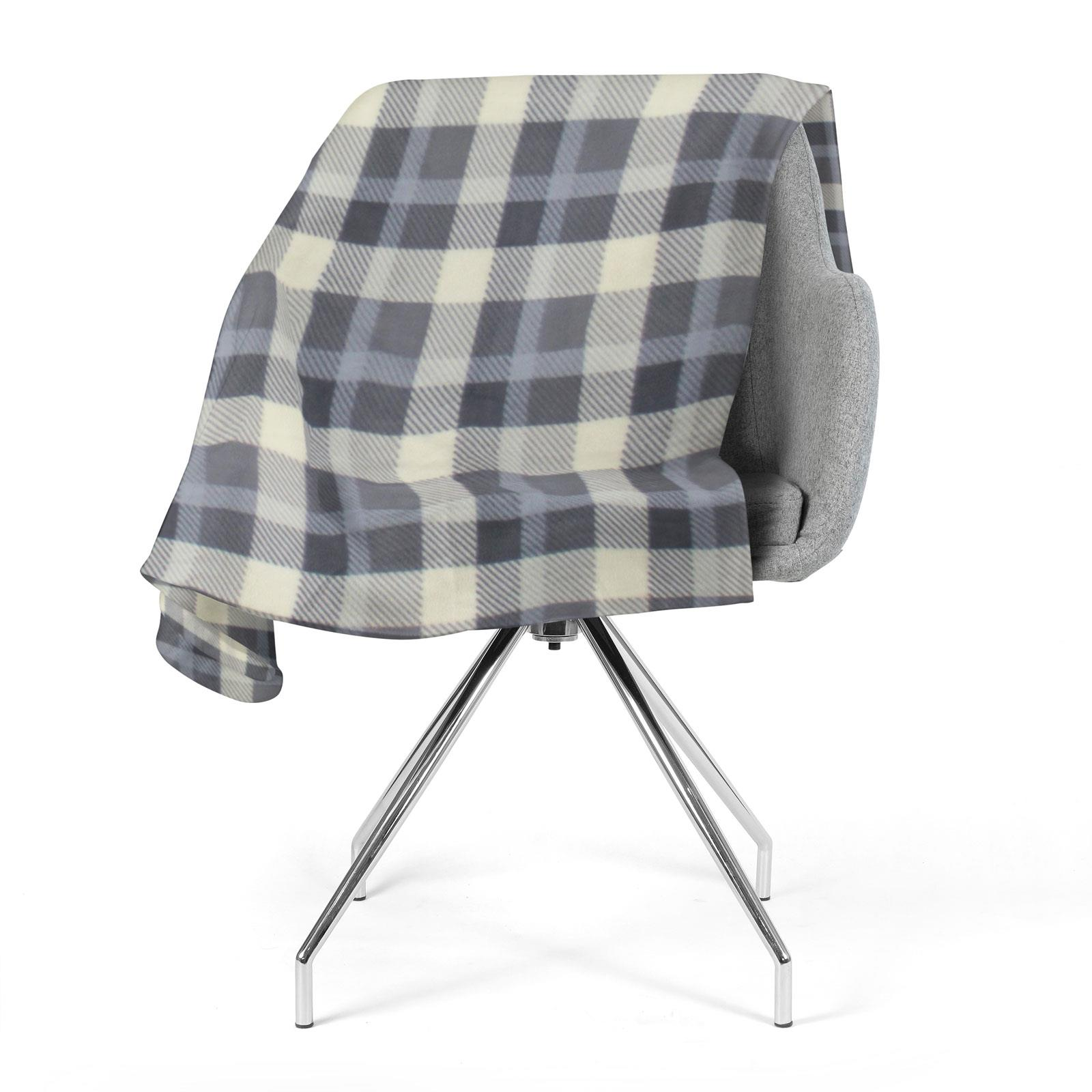Sofa-de-verificacion-de-tartan-polar-mantas-polar-silla-acogedor-lanza-Manta-127cm-X-152cm miniatura 12