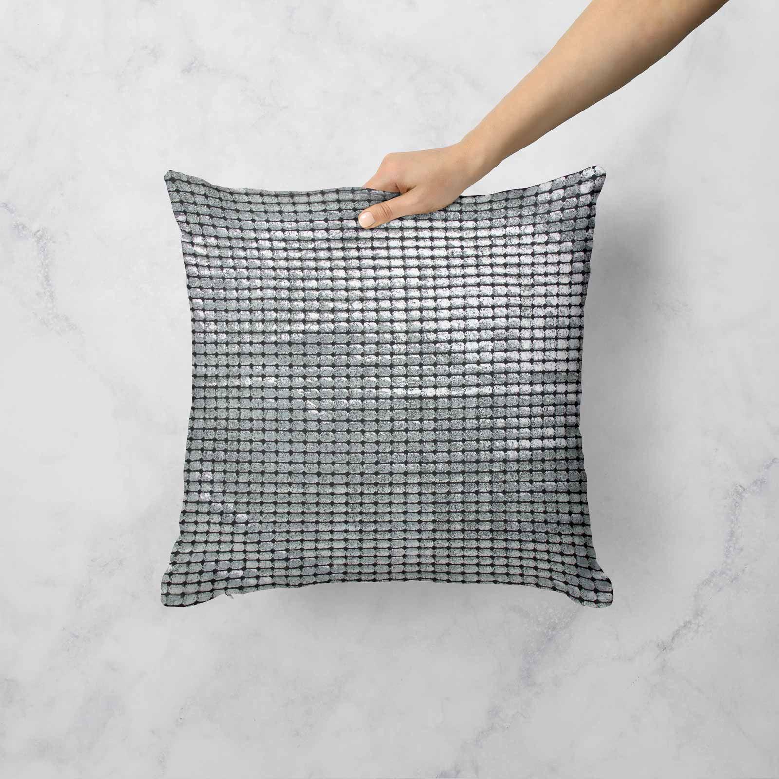 Impresion-de-lamina-metalica-Moderno-Funda-De-Cojin-Almohadon-cubiertas-de-cojines-18-034-X-18-034 miniatura 24