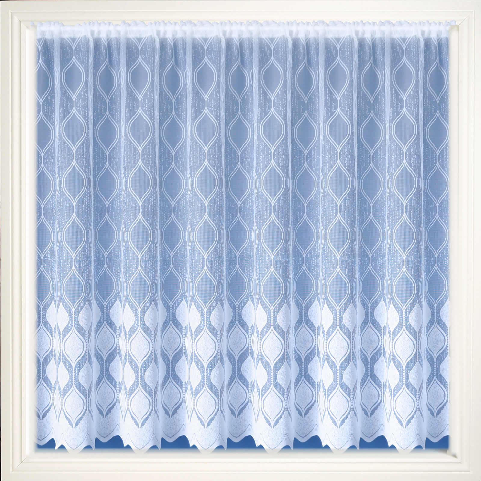 Modern white net curtain luxury lace curtains nets sold by for Window net curtain