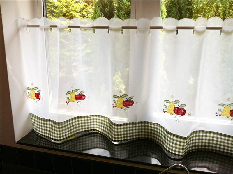 SHEER VOILE CAFE PANEL KITCHEN BATHROOM READY MADE