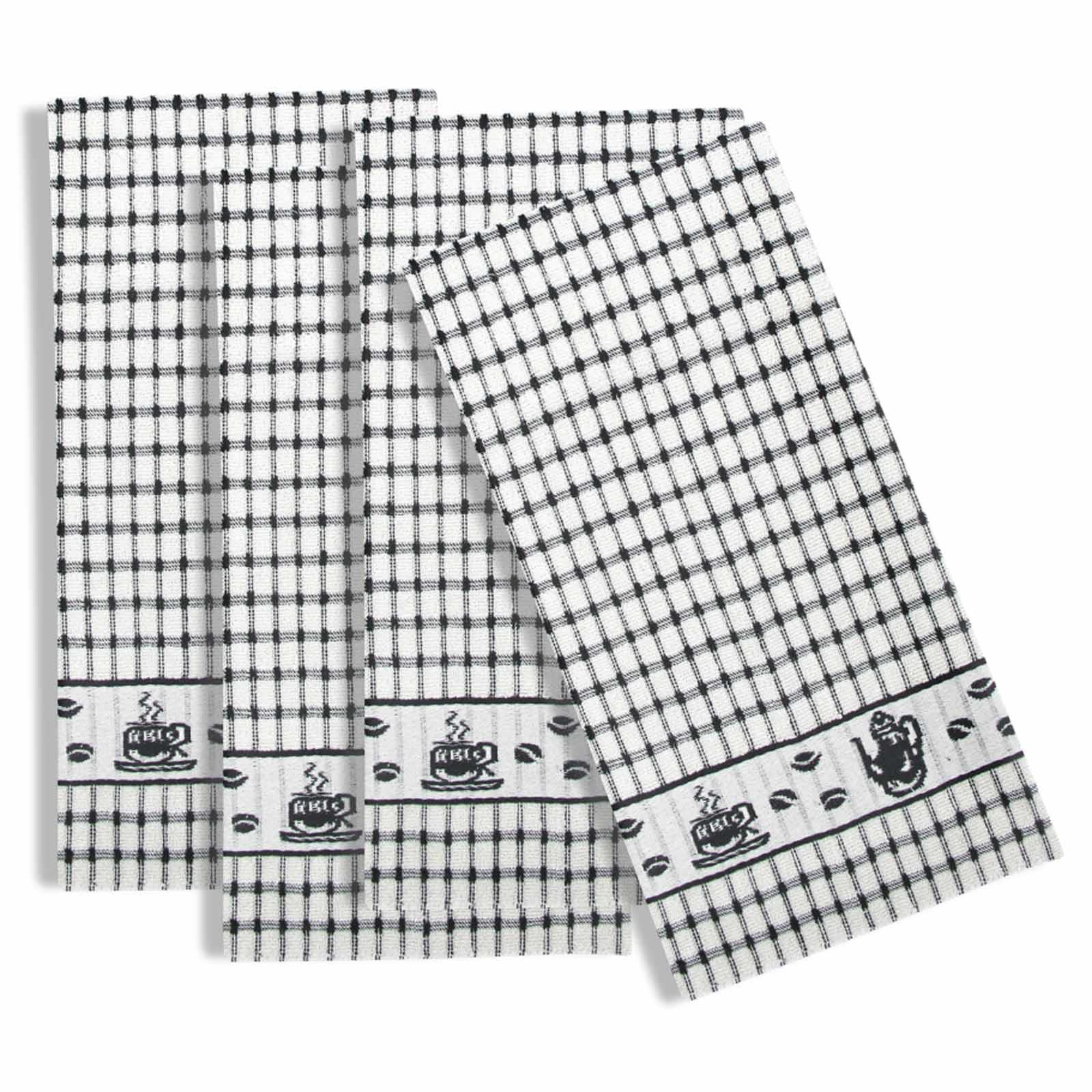 Packs-of-2-4-6-12-Tea-Towels-100-Cotton-Terry-Kitchen-Dish-Drying-Towel-Sets thumbnail 72