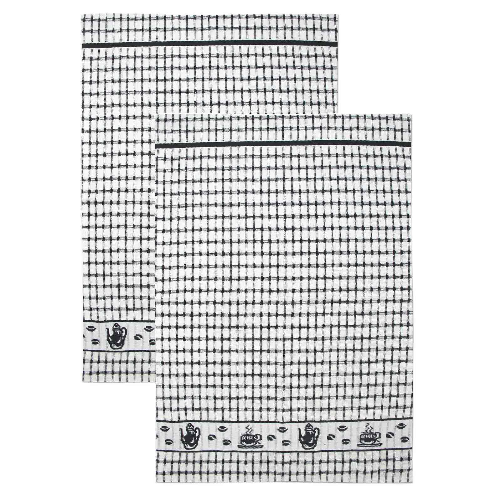 Packs-of-2-4-6-12-Tea-Towels-100-Cotton-Terry-Kitchen-Dish-Drying-Towel-Sets thumbnail 28