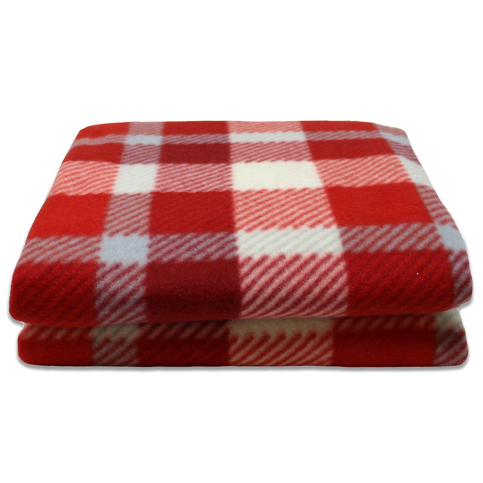 Sofa-de-verificacion-de-tartan-polar-mantas-polar-silla-acogedor-lanza-Manta-127cm-X-152cm miniatura 3