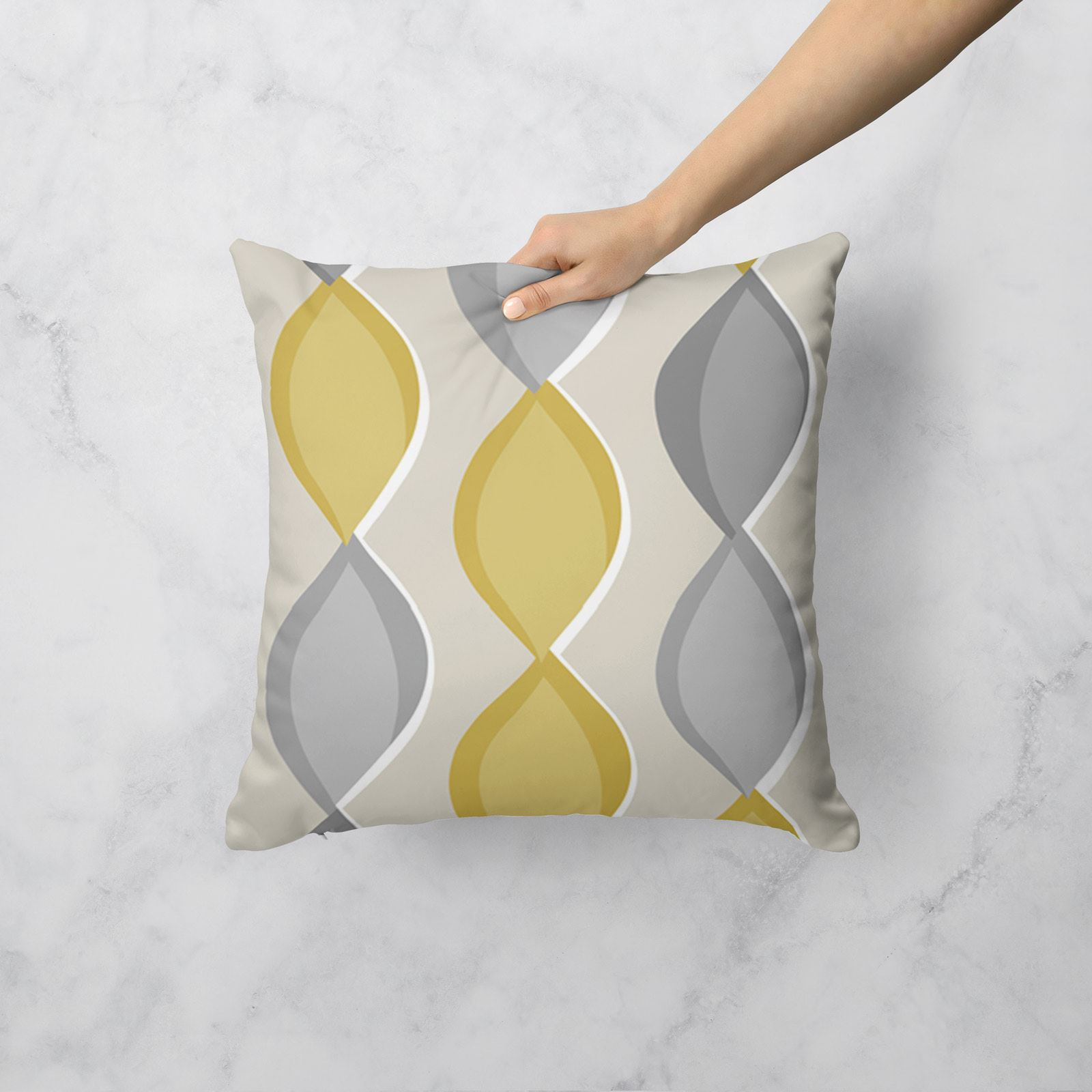 Grey-Ochre-Mustard-Cushion-Cover-Collection-17-034-18-034-Covers-Filled-Cushions thumbnail 84