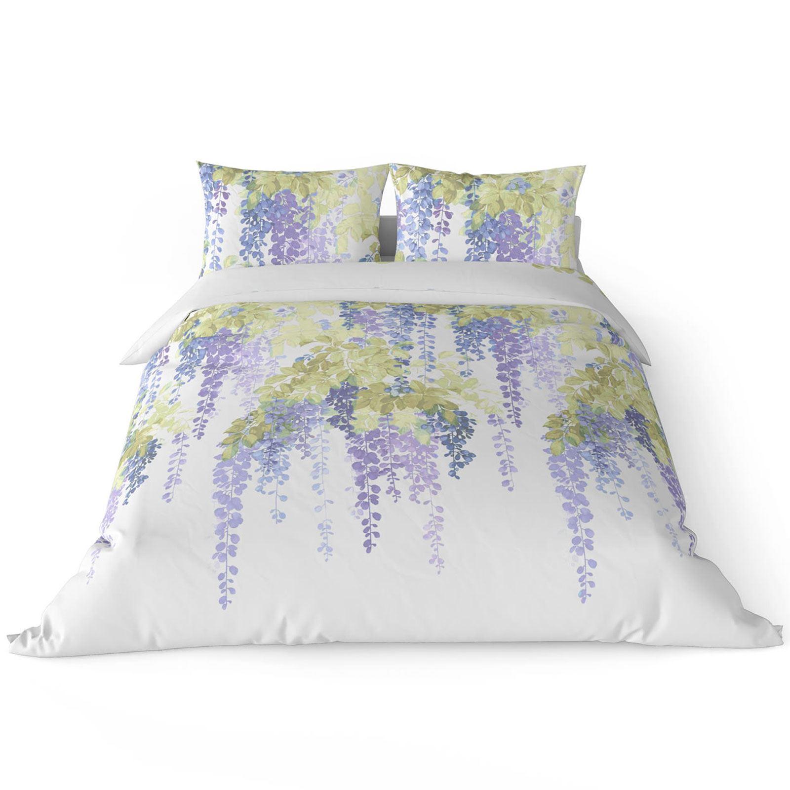 Funda-nordica-azul-azul-marino-verde-azulado-edredon-algodon-estampado-juego-conjuntos-de-cama-cubre miniatura 27