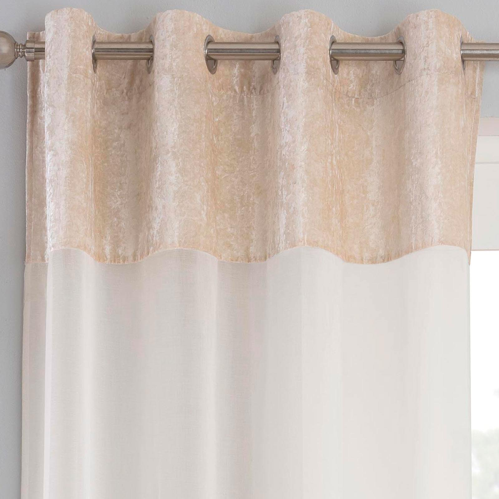 Velvet Voile Curtain Panels Liberty Crushed Velvet Ready