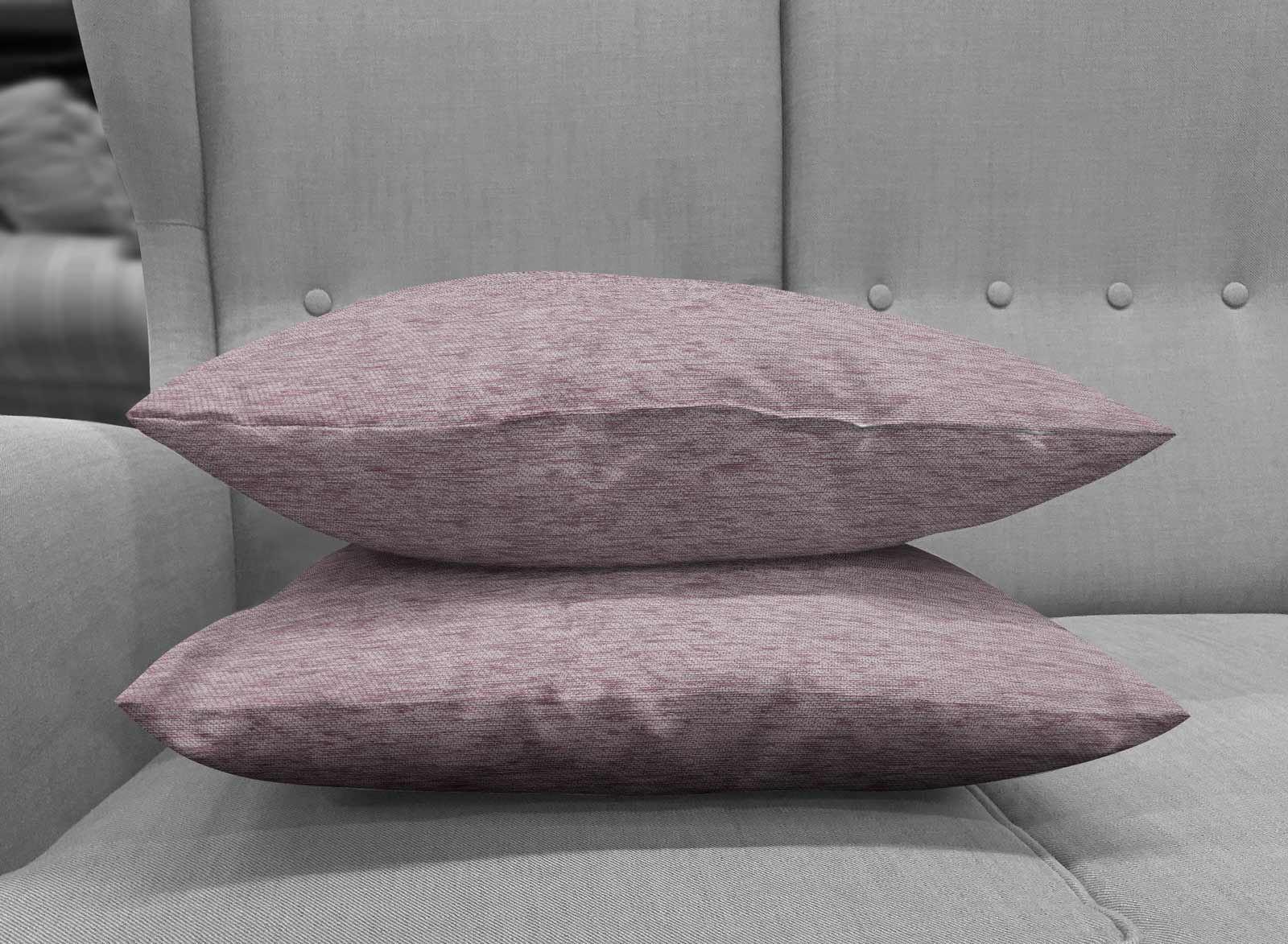 Set-of-2-Chenille-Cushion-Covers-Luxury-Plain-Cushions-Cover-Pairs-18-034-x-18-034 thumbnail 6