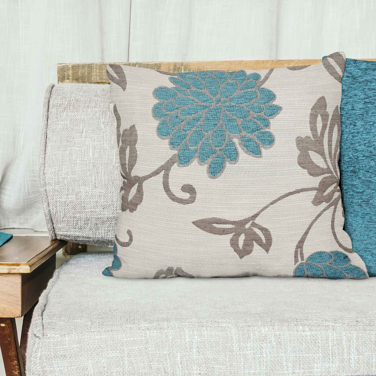 Teal-Blue-Duck-Egg-Cushion-Covers-18-034-x18-034-45cm-x-45cm-Luxury-Cover thumbnail 25