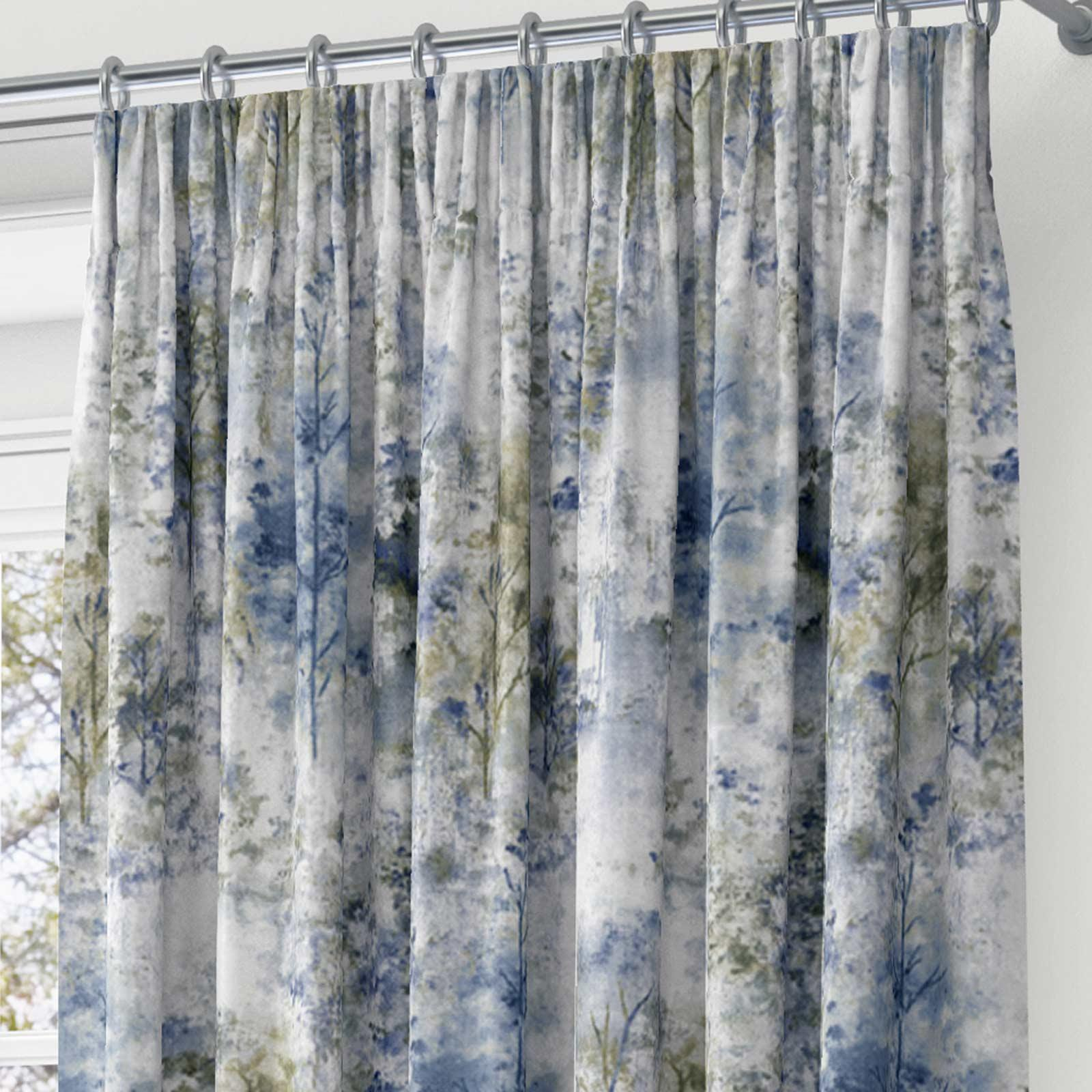 Woodland-Cinta-superior-Cortinas-de-arboles-de-impresion-Ready-Made-3-034-pares-de-cortina-plisado miniatura 10