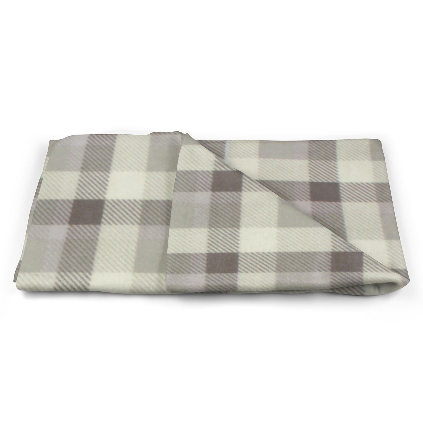 Sofa-de-verificacion-de-tartan-polar-mantas-polar-silla-acogedor-lanza-Manta-127cm-X-152cm miniatura 23