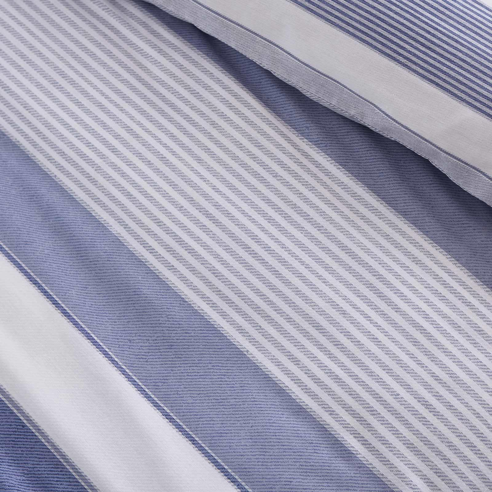 miniatuur 5 - Catherine Lansfield Newquay Stripe Blue Duvet Covers Quilt Cover Bedding Sets
