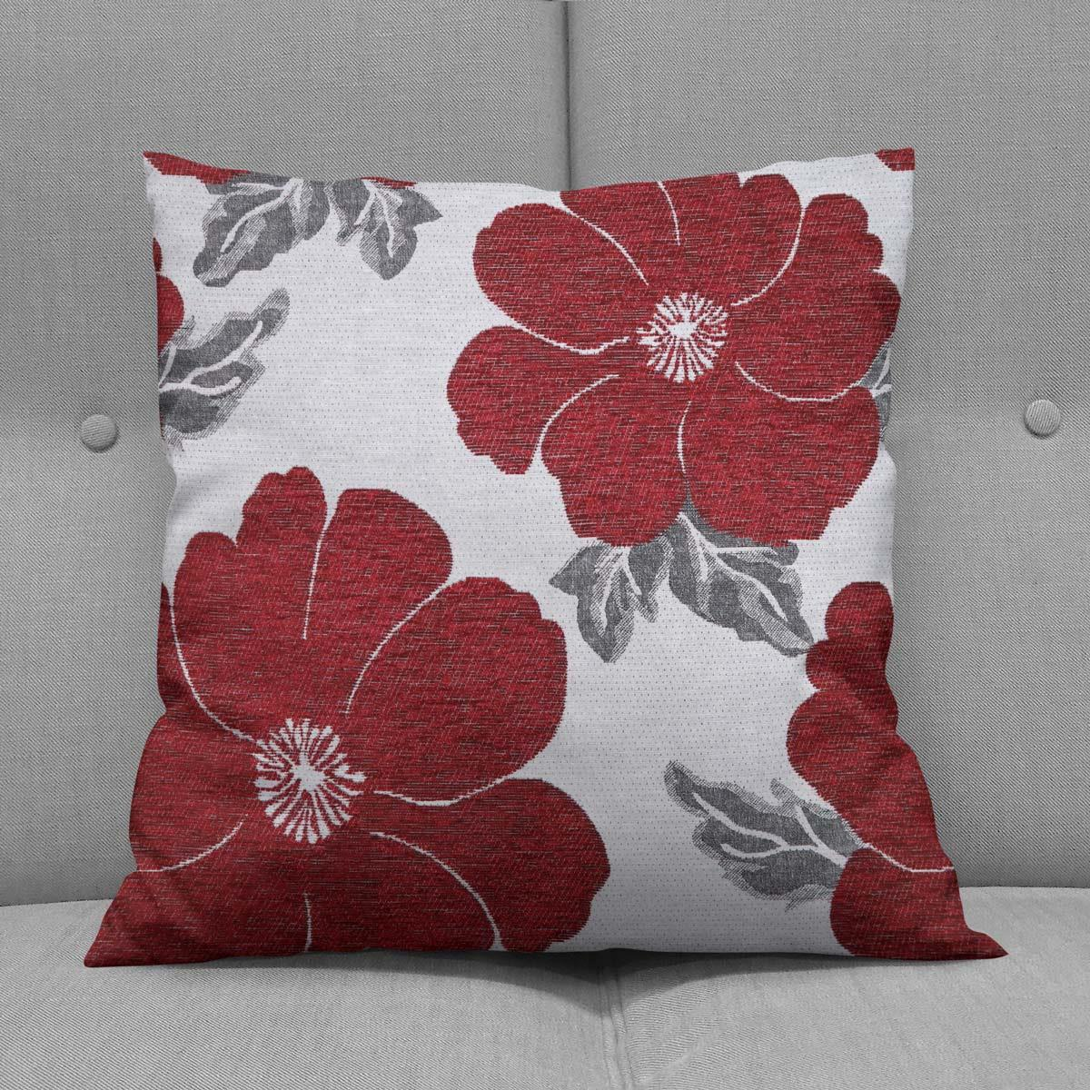 Chenille-Cushion-Cover-Floral-Reversible-Thick-Cushions-Covers-18-034-22-034-9-Colours thumbnail 37