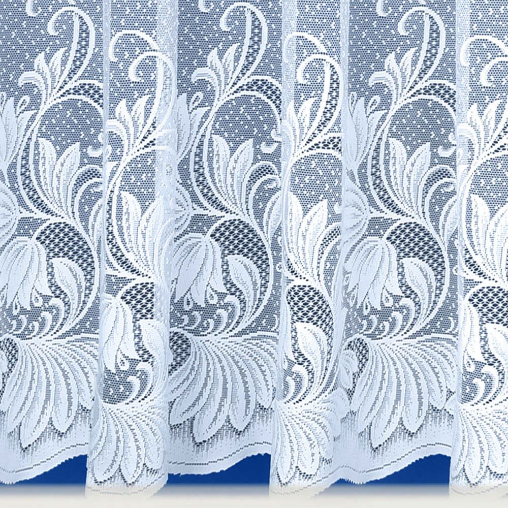MODERN WHITE NET CURTAIN LUXURY LACE CURTAINS NETS SOLD BY THE METRE ...