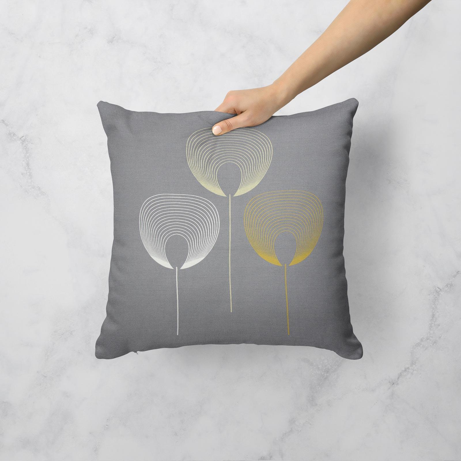 Geometrica-Cushion-Covers-Cojines-De-Impresion-Floral-Gris-Beige-Ocre-cubre-17-034-X-17-034 miniatura 18