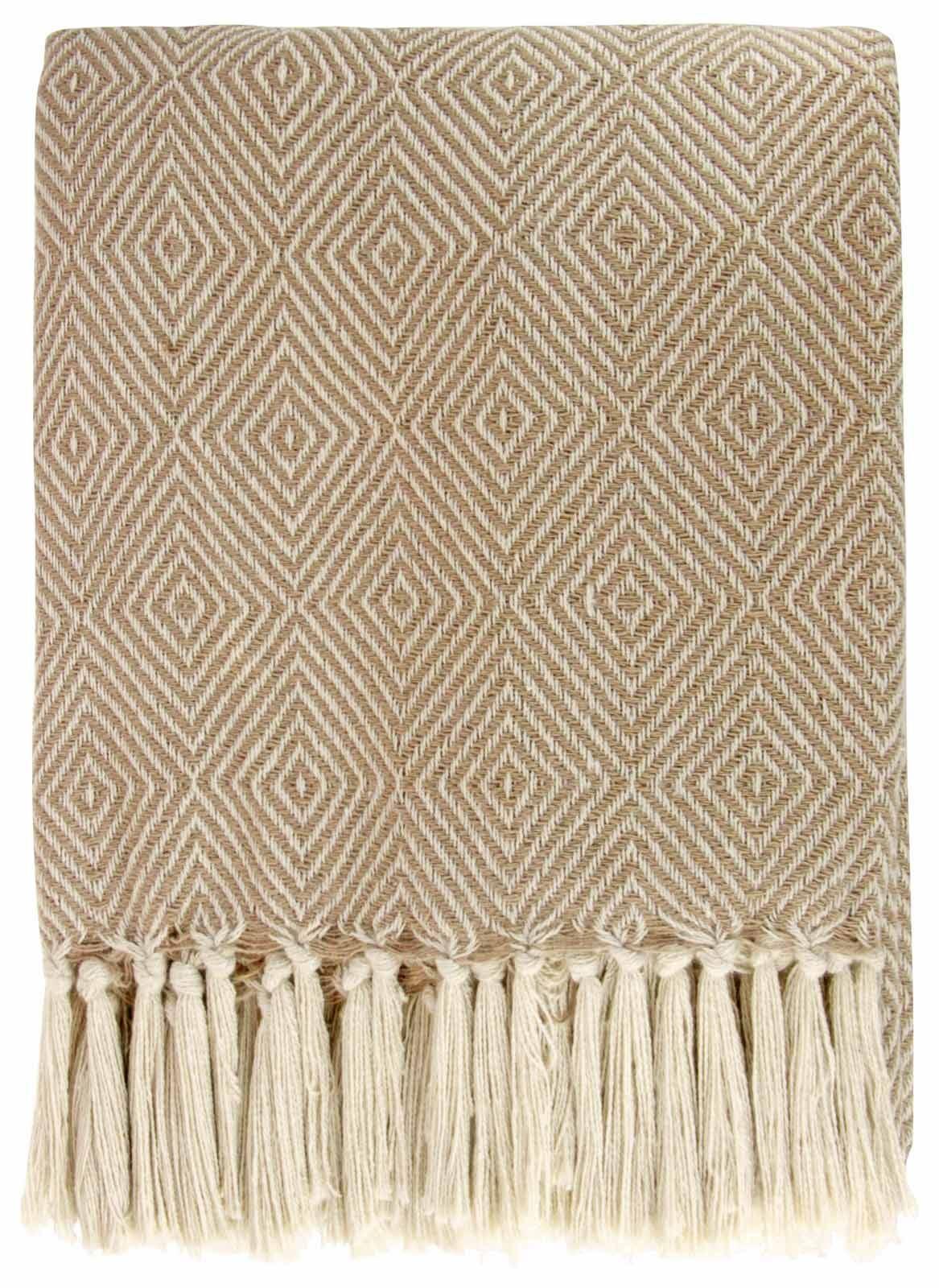 Modern geometric diamond woven throw 100 cotton sofa bed for Sofa bed 180cm
