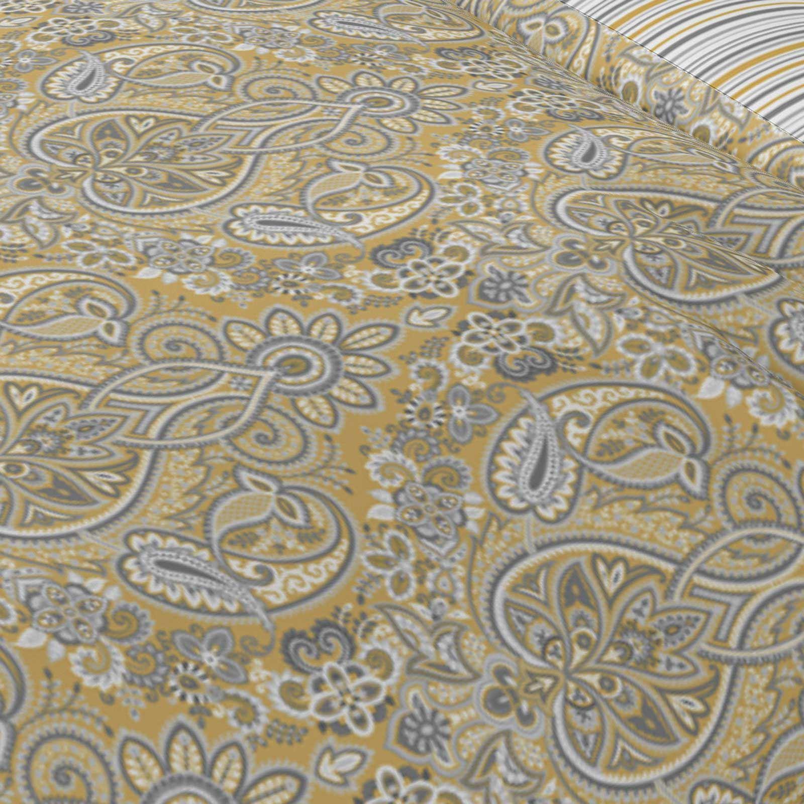 Mostaza-amarillo-ocre-Funda-de-edredon-impreso-Edredon-juego-ropa-de-cama-cubre-conjuntos miniatura 41