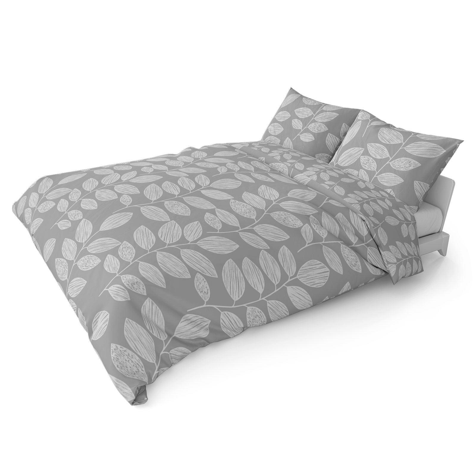 Grigio-Argento-Copripiumino-Stampato-Jacquard-Quilt-Set-Set-di-biancheria-da-letto-copre miniatura 17