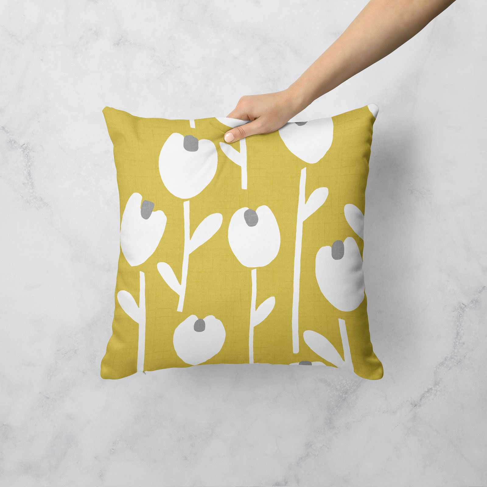 Grey-Ochre-Mustard-Cushion-Cover-Collection-17-034-18-034-Covers-Filled-Cushions thumbnail 12