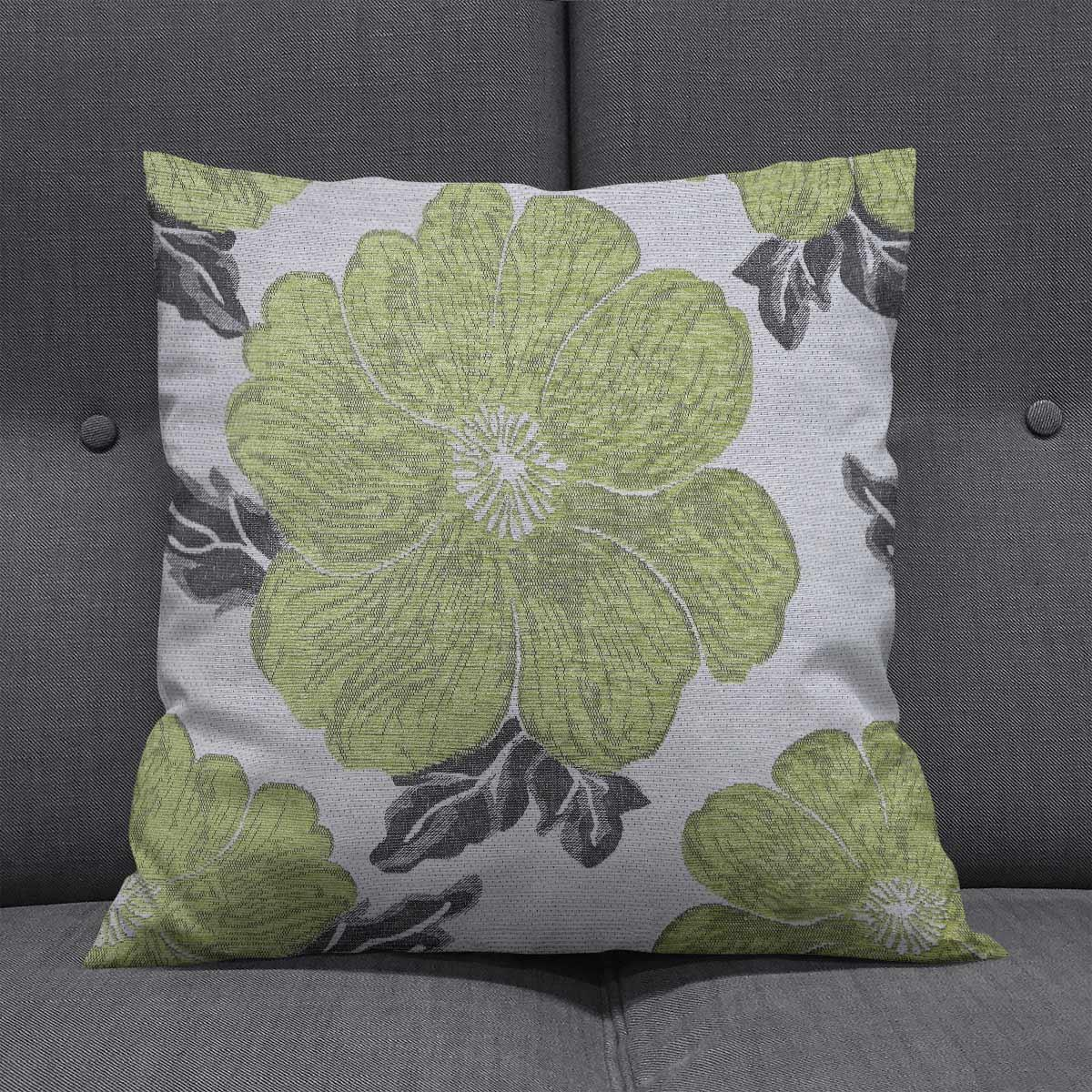 Chenille-Cushion-Cover-Floral-Reversible-Thick-Cushions-Covers-18-034-22-034-9-Colours thumbnail 49