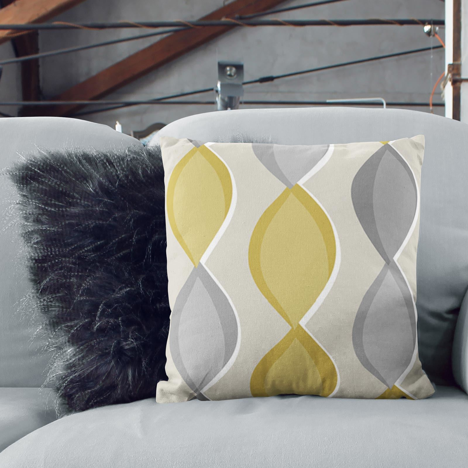 Grey-Ochre-Mustard-Cushion-Cover-Collection-17-034-18-034-Covers-Filled-Cushions thumbnail 85