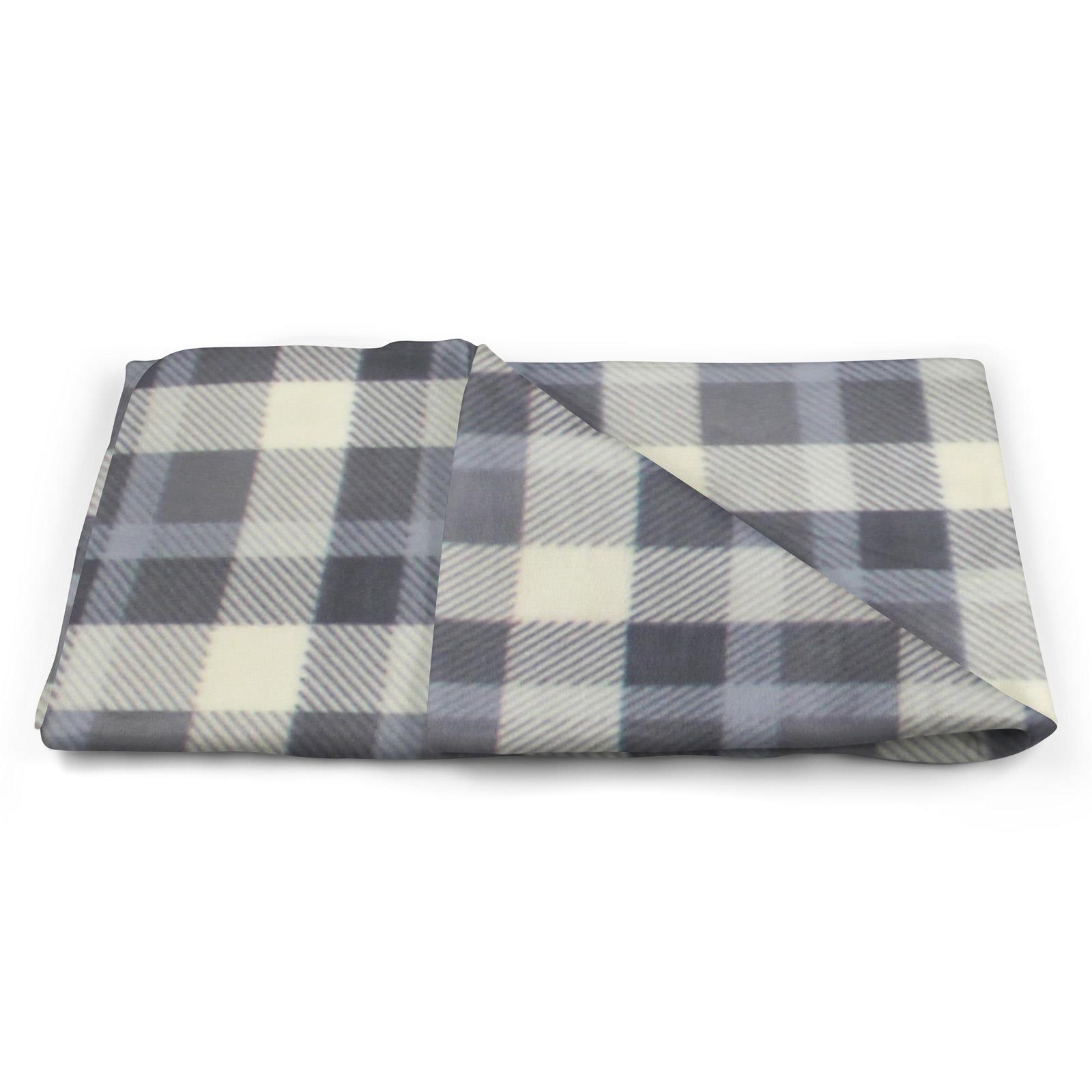 Sofa-de-verificacion-de-tartan-polar-mantas-polar-silla-acogedor-lanza-Manta-127cm-X-152cm miniatura 11