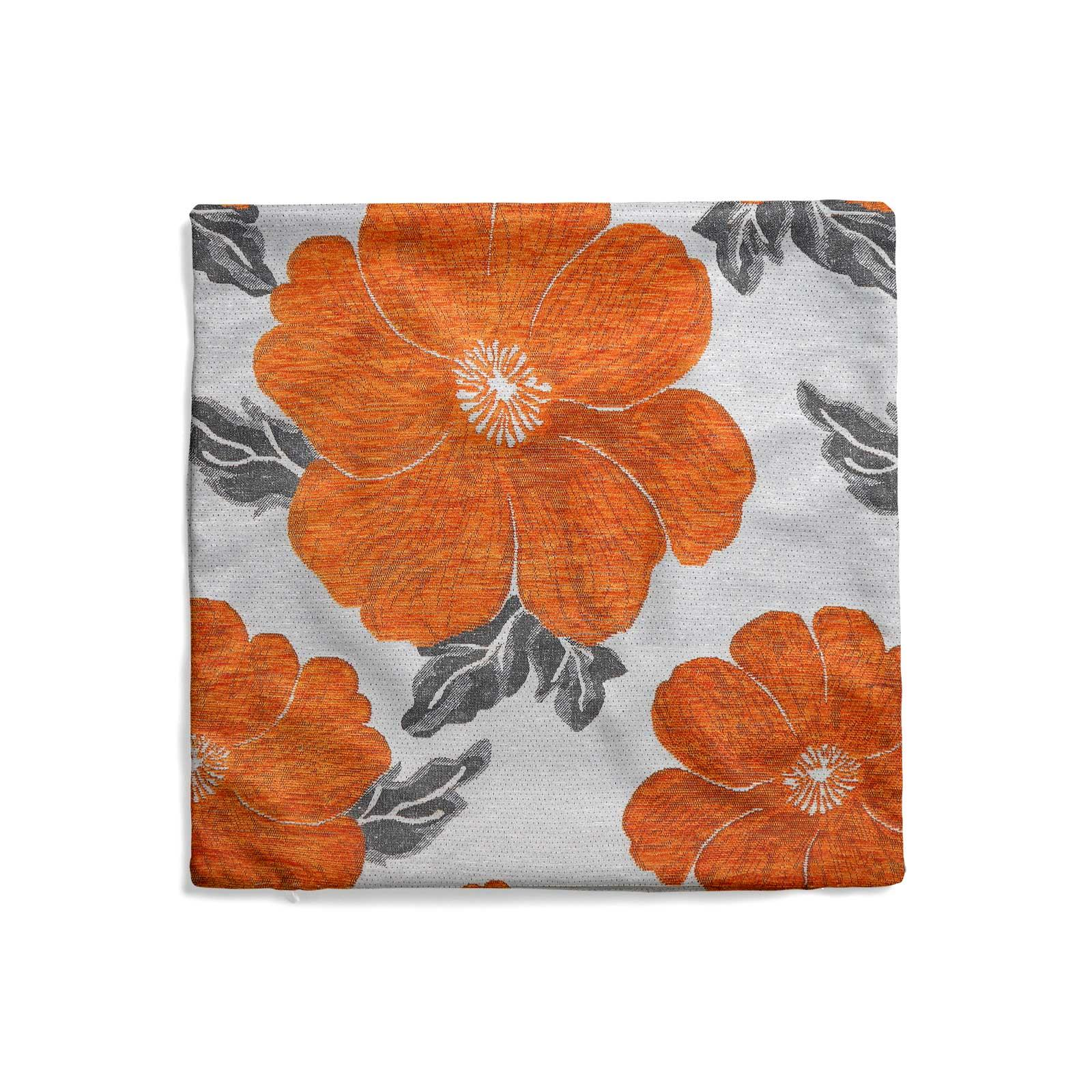 Chenille-Cushion-Cover-Floral-Reversible-Thick-Cushions-Covers-18-034-22-034-9-Colours thumbnail 28