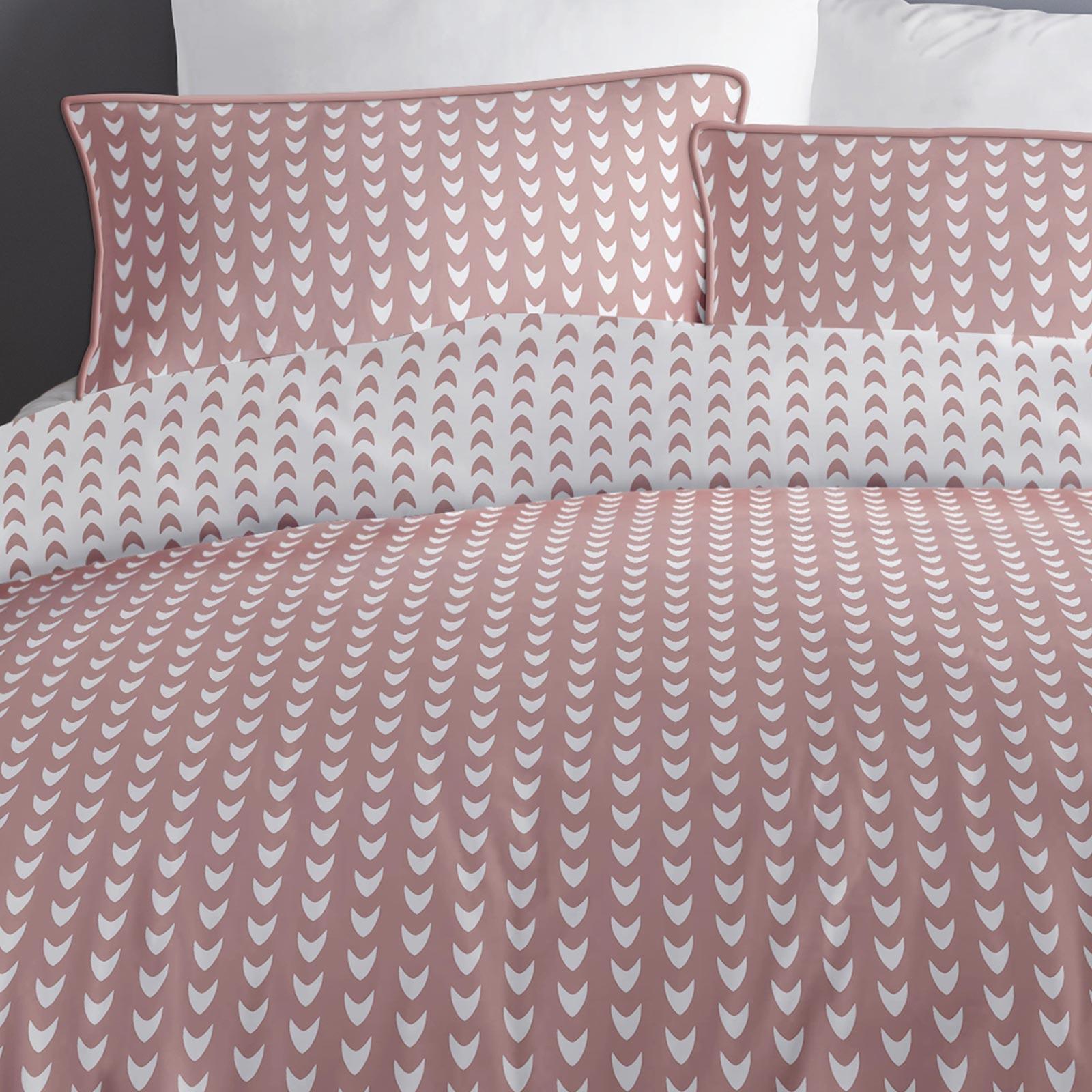 Blush-fundas-nordicas-Rosa-Geometrico-100-Algodon-Edredon-Reversible-conjuntos-de-cama miniatura 4