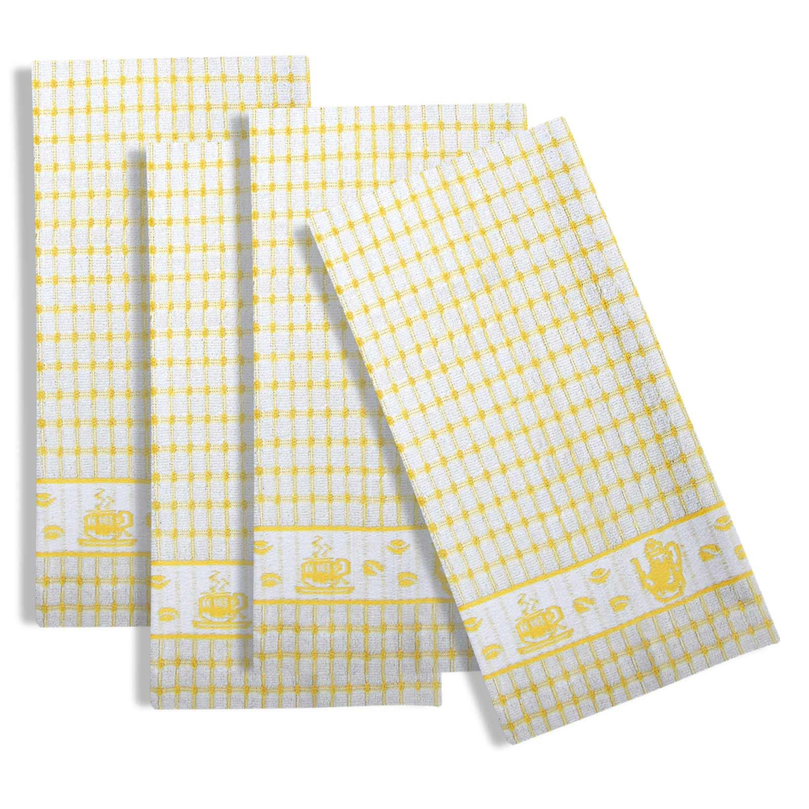 Packs-of-2-4-6-12-Tea-Towels-100-Cotton-Terry-Kitchen-Dish-Drying-Towel-Sets thumbnail 54
