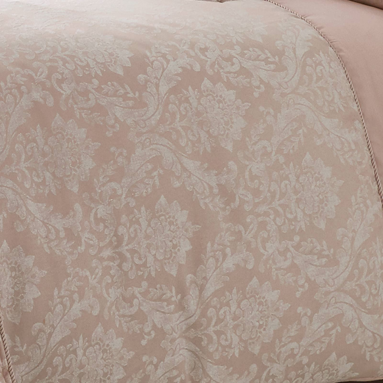 Cubierta-Edredon-Rosa-Blush-Rose-Impreso-juego-De-Edredon-Conjuntos-de-Cama-cubre-Jacquard miniatura 18