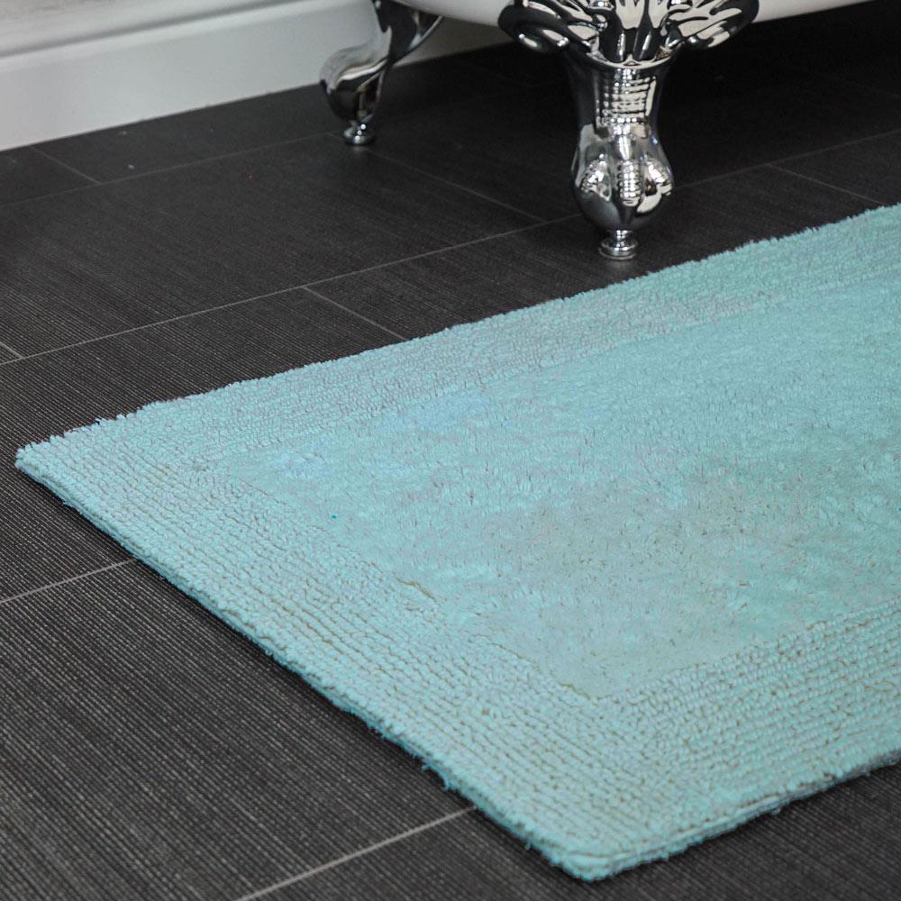 100% cotton bath mat rugs reversible luxury 2200gsm large