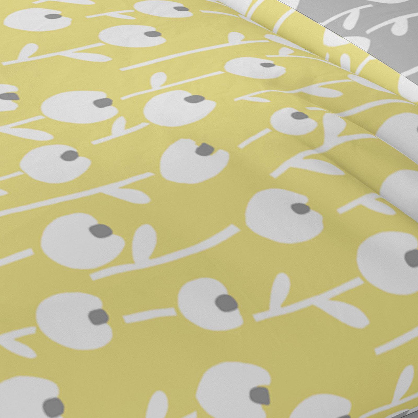 Mostaza-amarillo-ocre-Funda-de-edredon-impreso-Edredon-juego-ropa-de-cama-cubre-conjuntos miniatura 3