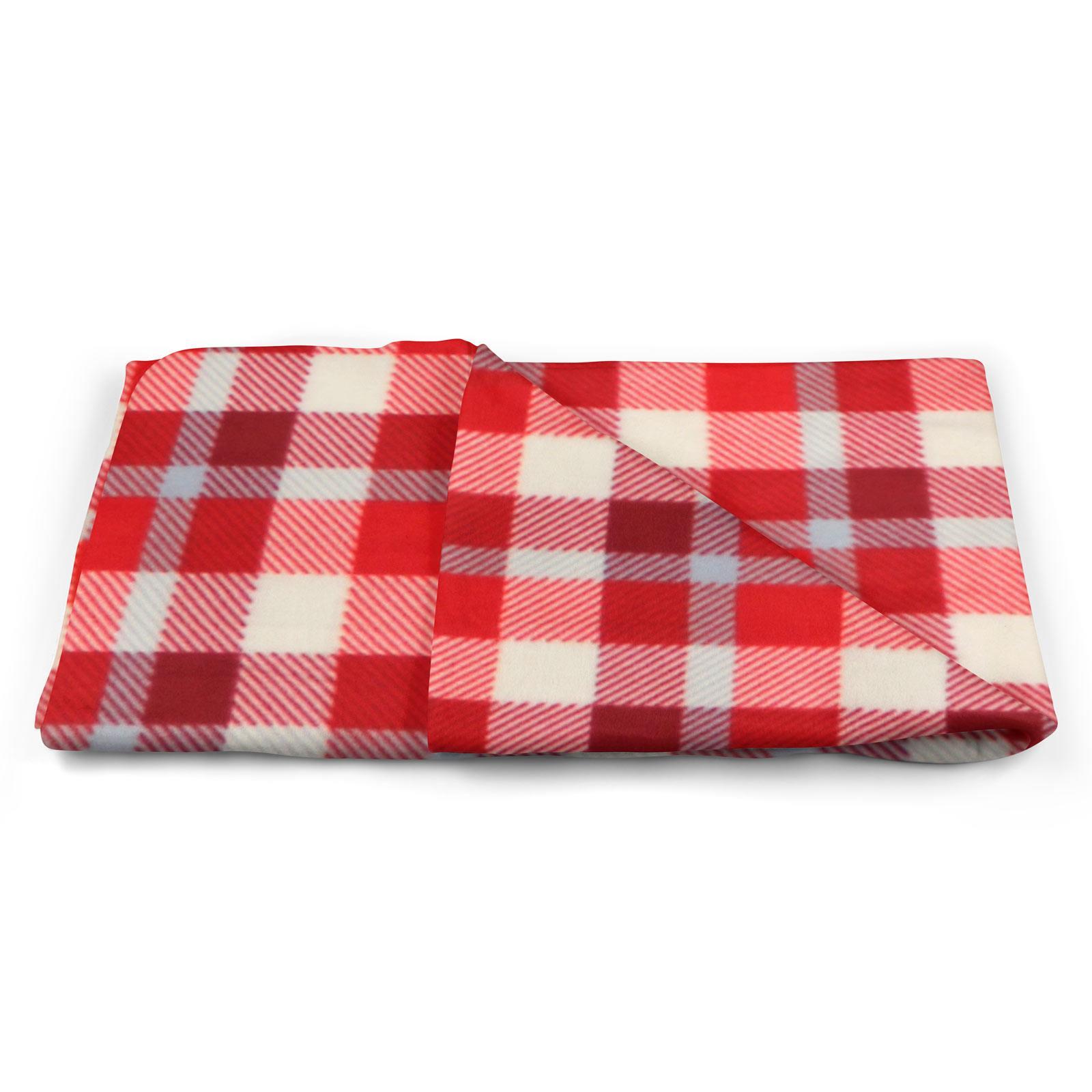 Sofa-de-verificacion-de-tartan-polar-mantas-polar-silla-acogedor-lanza-Manta-127cm-X-152cm miniatura 5