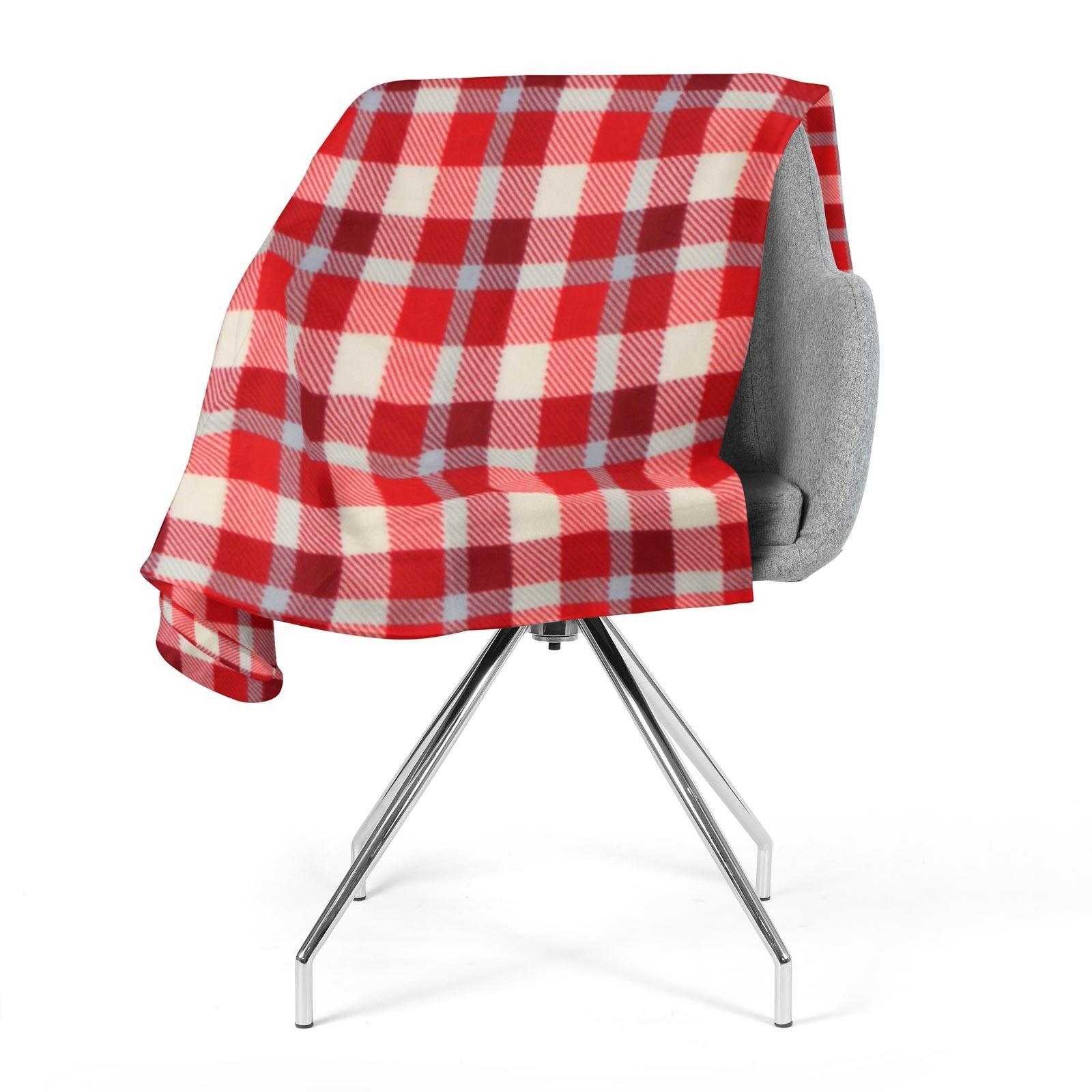 Sofa-de-verificacion-de-tartan-polar-mantas-polar-silla-acogedor-lanza-Manta-127cm-X-152cm miniatura 6