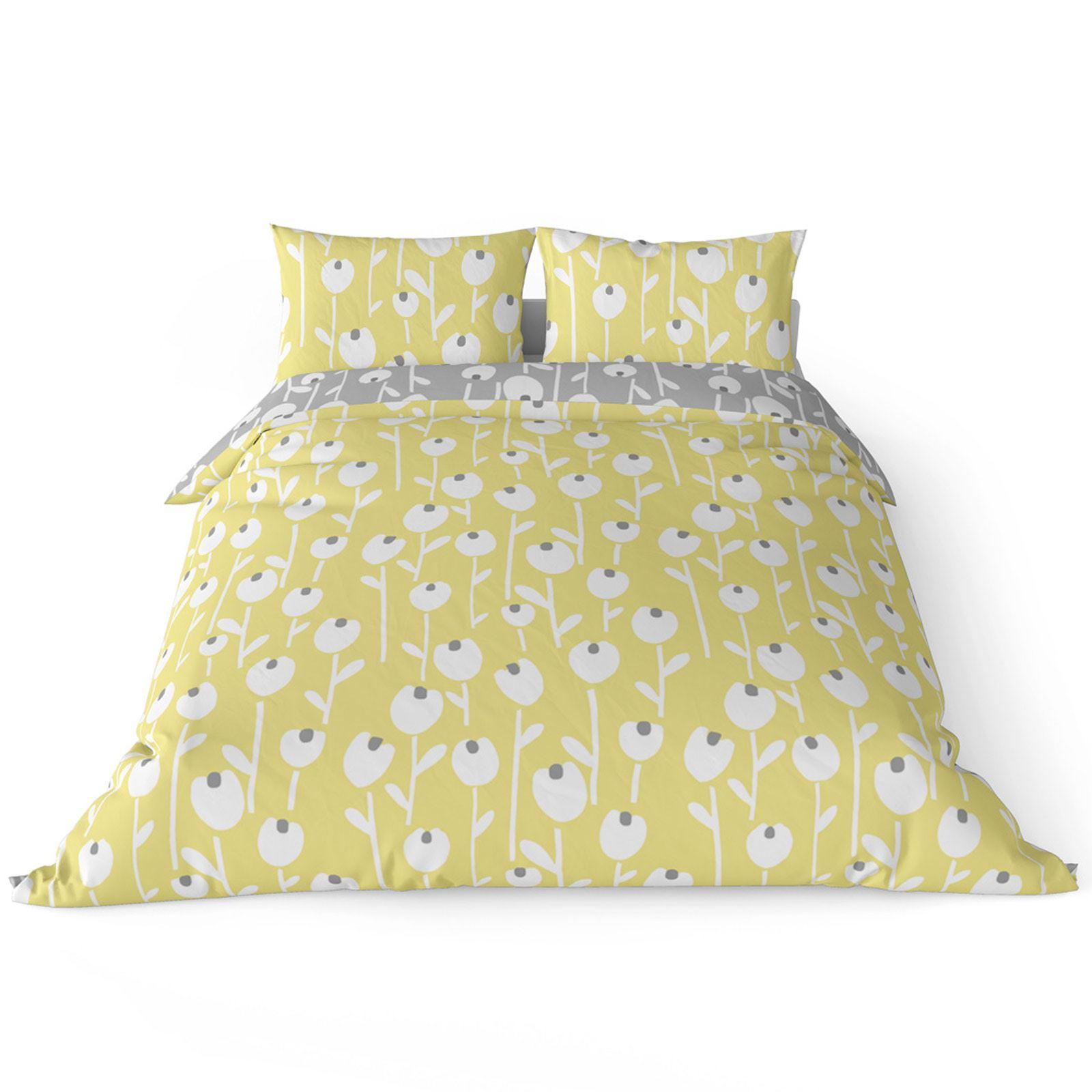 Mostaza-amarillo-ocre-Funda-de-edredon-impreso-Edredon-juego-ropa-de-cama-cubre-conjuntos miniatura 7