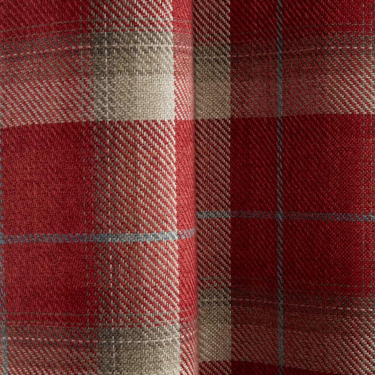 Cortinas-DE-ORIFICIOS-Rojo-Blackout-Tartan-Check-Ready-Made-acogedor-Anillo-Superior-Cortina-Pares miniatura 4
