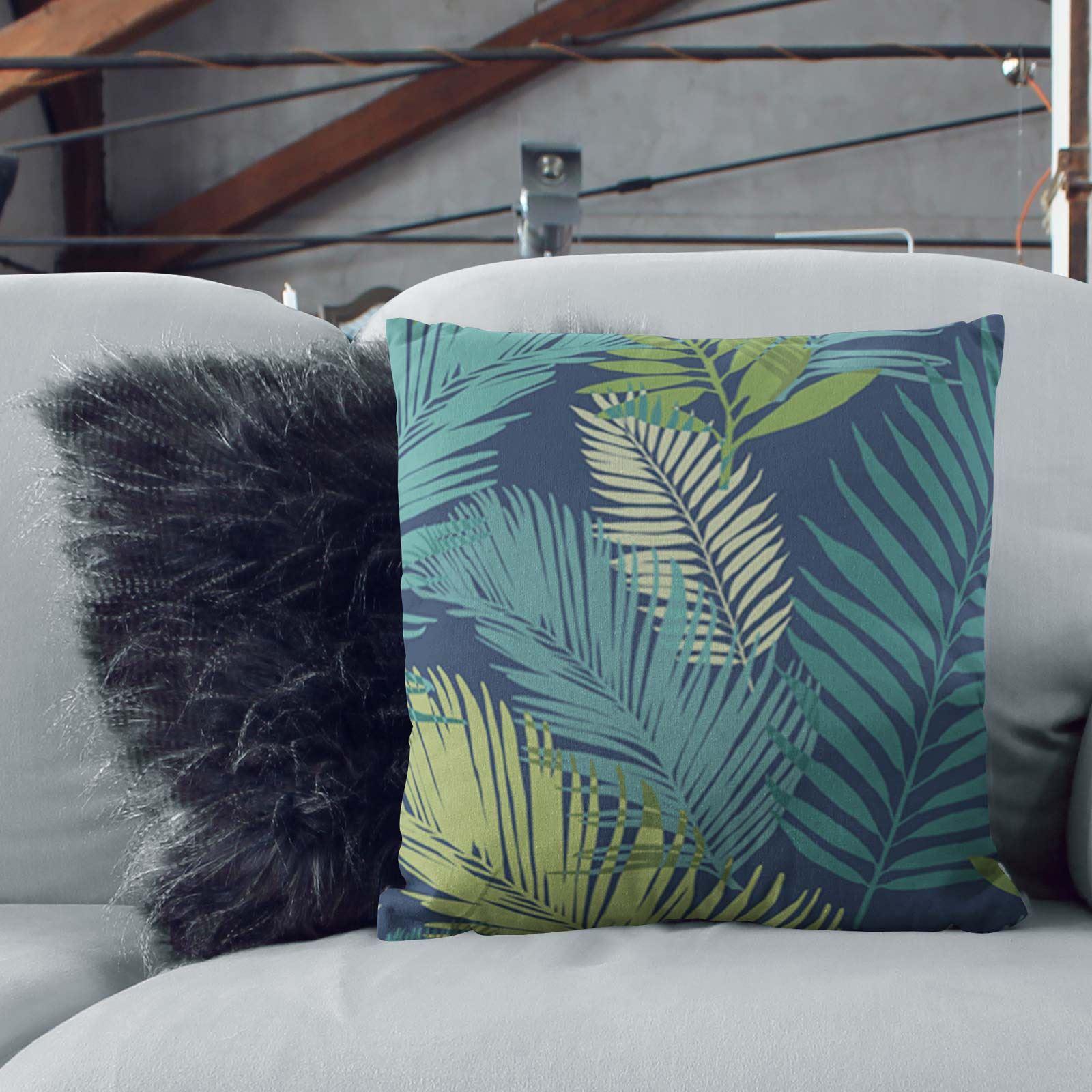 Teal-Blue-Duck-Egg-Cushion-Covers-18-034-x18-034-45cm-x-45cm-Luxury-Cover thumbnail 7