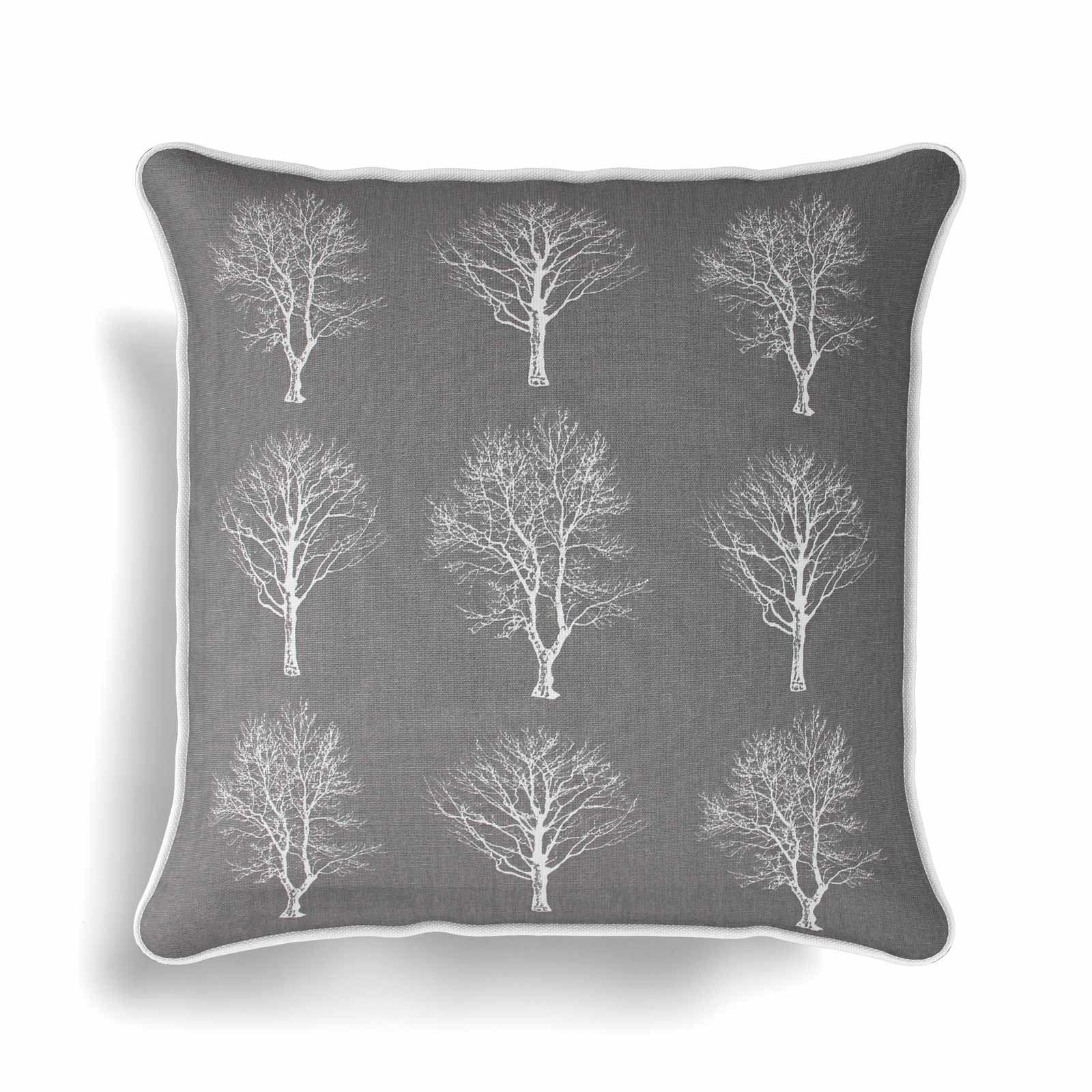 Woodland-Trees-Cushion-Cover-Modern-Reversible-Tree-Print-Covers-17-034-x-17-034 thumbnail 3