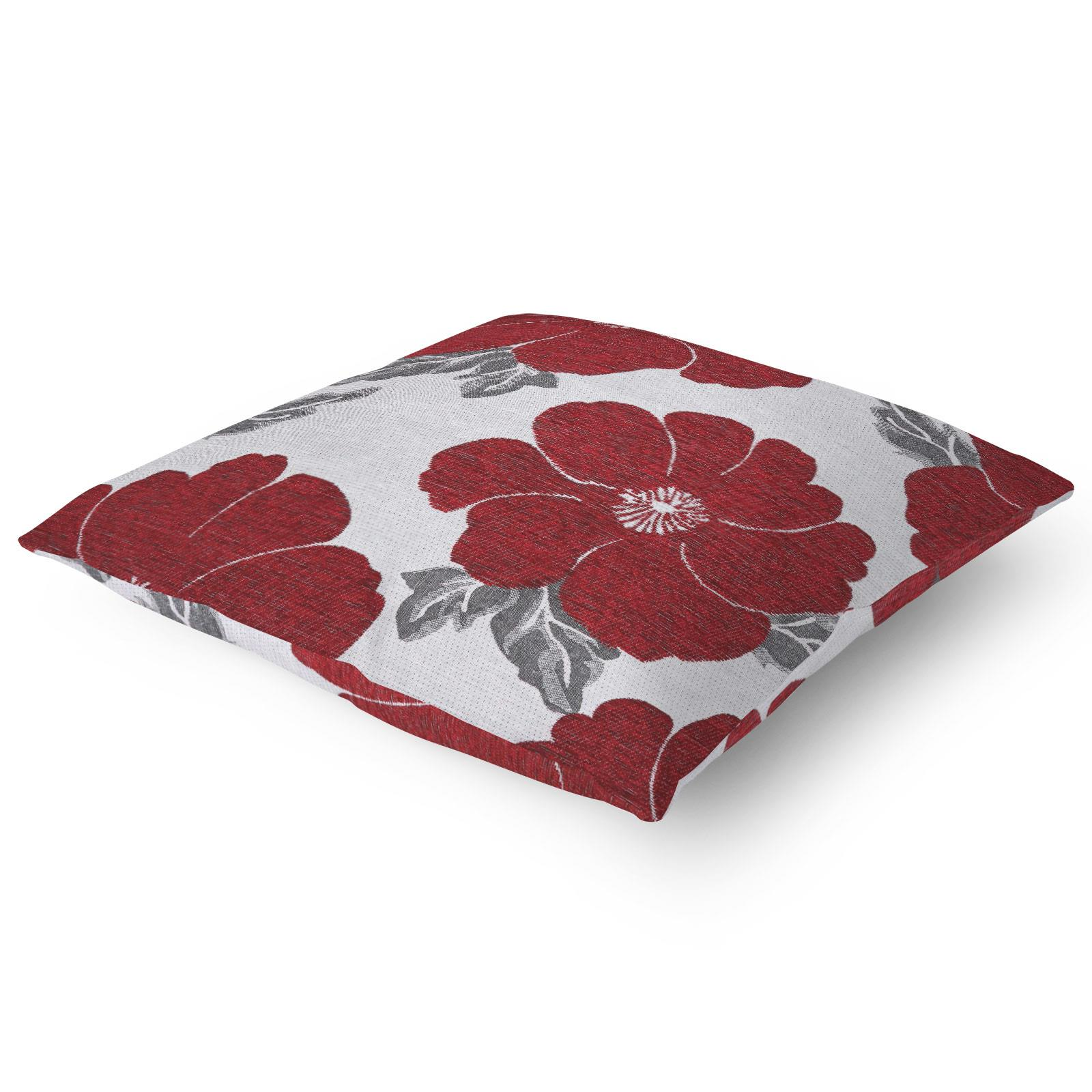 Chenille-Cushion-Cover-Floral-Reversible-Thick-Cushions-Covers-18-034-22-034-9-Colours thumbnail 33