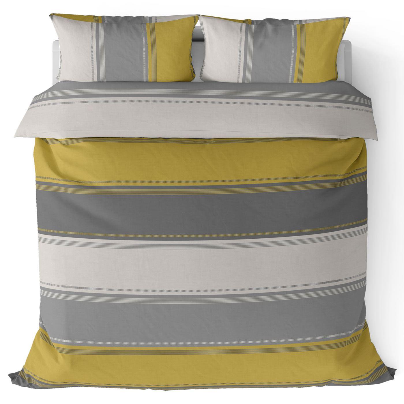 Mostaza-amarillo-ocre-Funda-de-edredon-impreso-Edredon-juego-ropa-de-cama-cubre-conjuntos miniatura 11