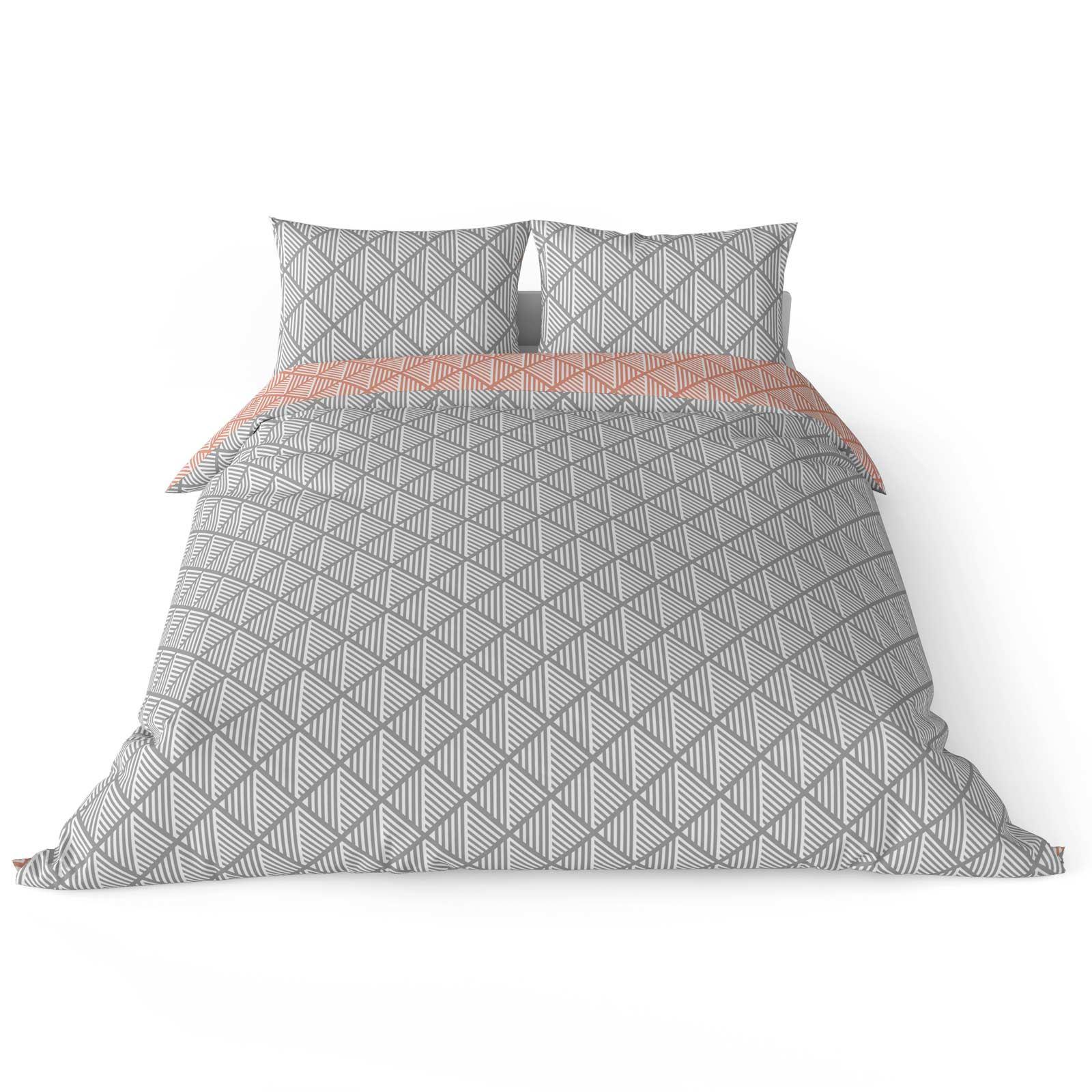 Grigio-Argento-Copripiumino-Stampato-Jacquard-Quilt-Set-Set-di-biancheria-da-letto-copre miniatura 28