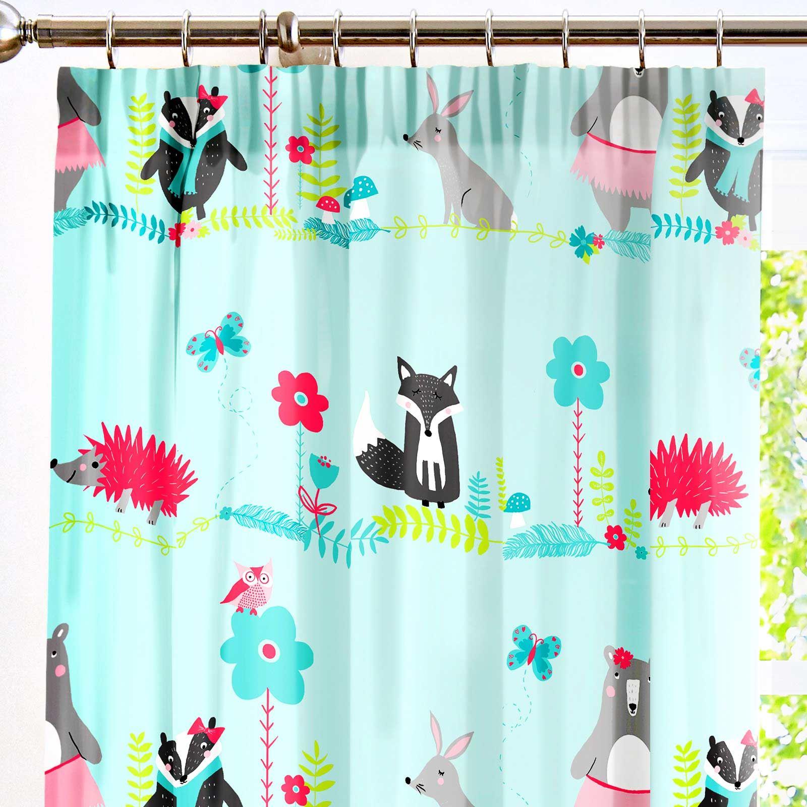 Kids-Duvet-Covers-Blue-Woodland-Animals-Cute-Reversible-Print-Quilt-Bedding-Sets thumbnail 14