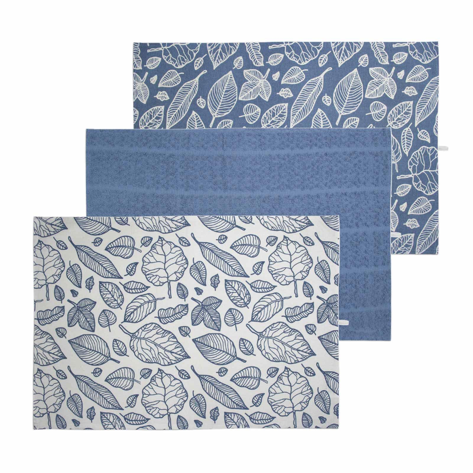 Pack-of-3-Tea-Towels-100-Cotton-Kitchen-Dish-Towel-Drying-Set thumbnail 4