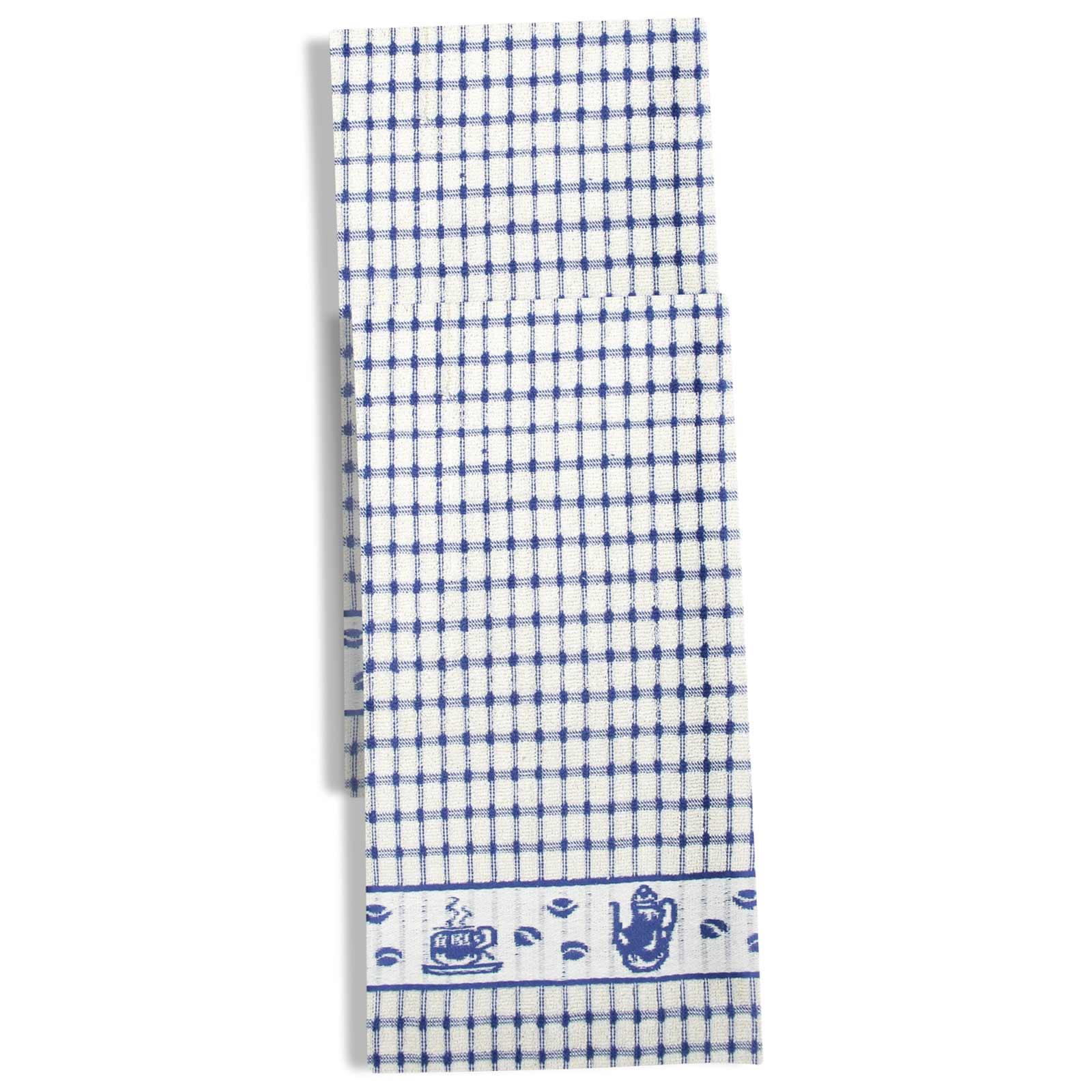Packs-of-2-4-6-12-Tea-Towels-100-Cotton-Terry-Kitchen-Dish-Drying-Towel-Sets thumbnail 36