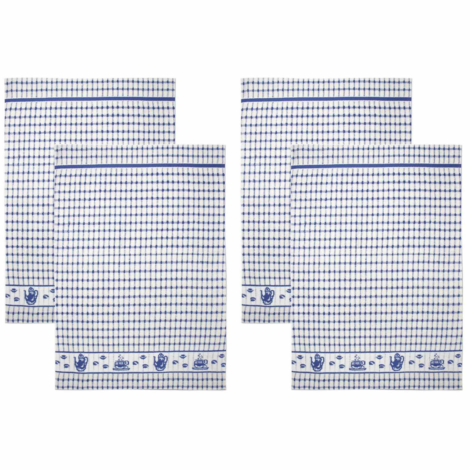 Packs-of-2-4-6-12-Tea-Towels-100-Cotton-Terry-Kitchen-Dish-Drying-Towel-Sets thumbnail 64