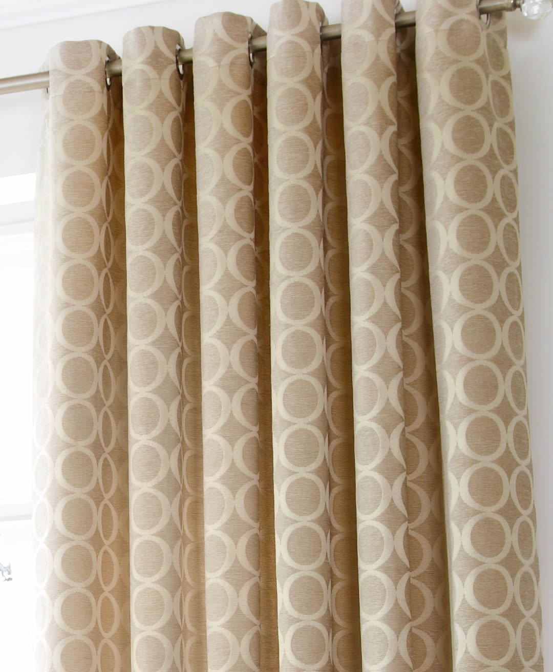 oh heavy weight chenille lined eyelet curtains modern. Black Bedroom Furniture Sets. Home Design Ideas