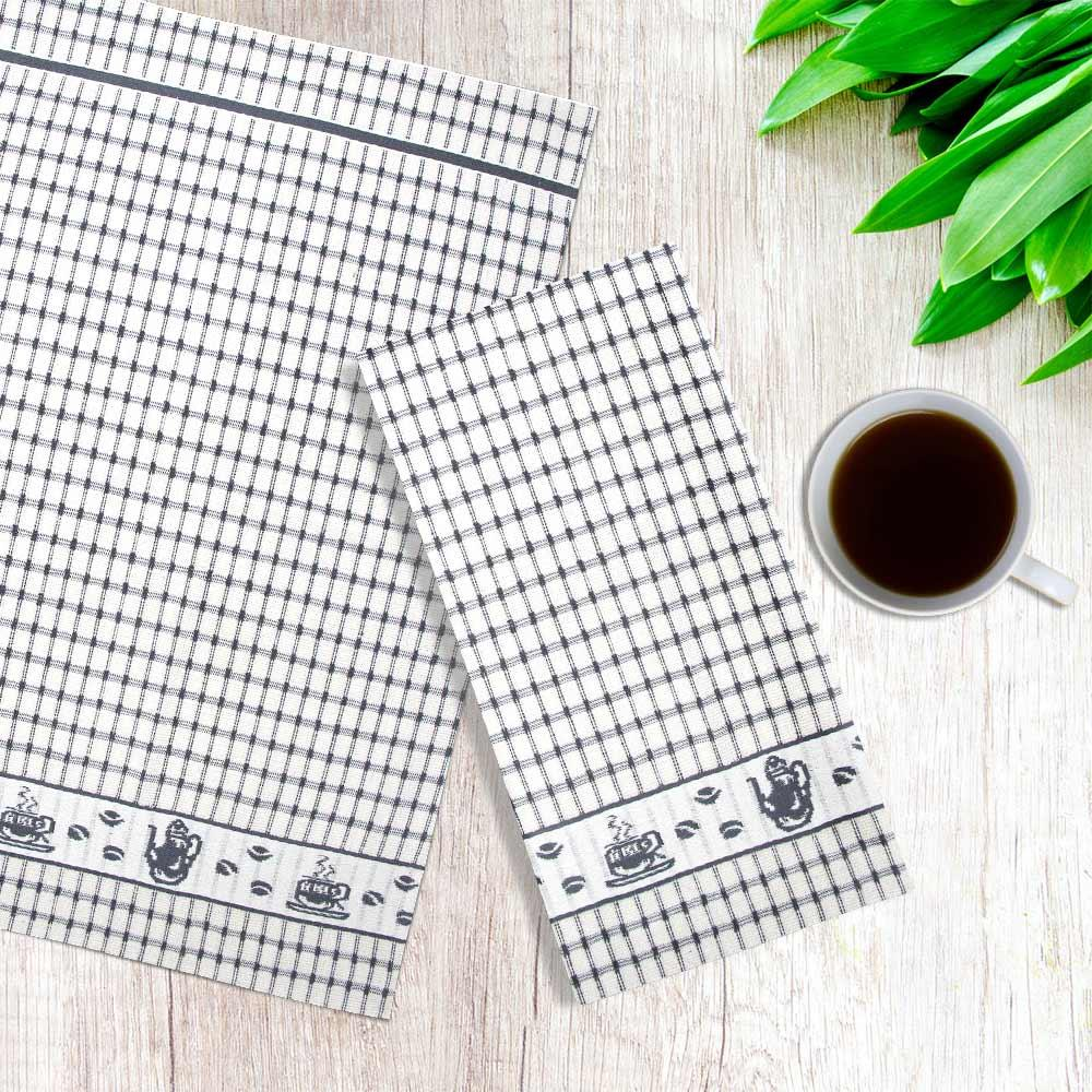 Packs-of-2-4-6-12-Tea-Towels-100-Cotton-Terry-Kitchen-Dish-Drying-Towel-Sets thumbnail 13