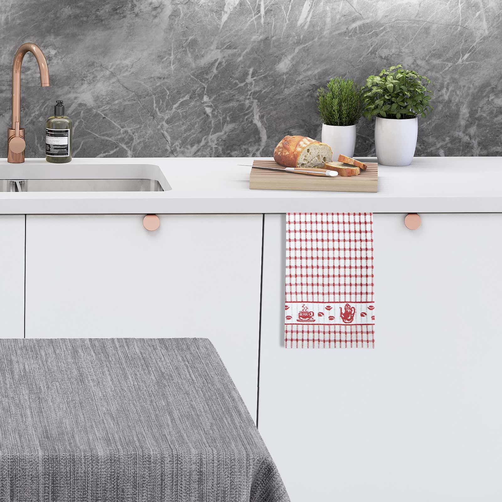Packs-of-2-4-6-12-Tea-Towels-100-Cotton-Terry-Kitchen-Dish-Drying-Towel-Sets thumbnail 8