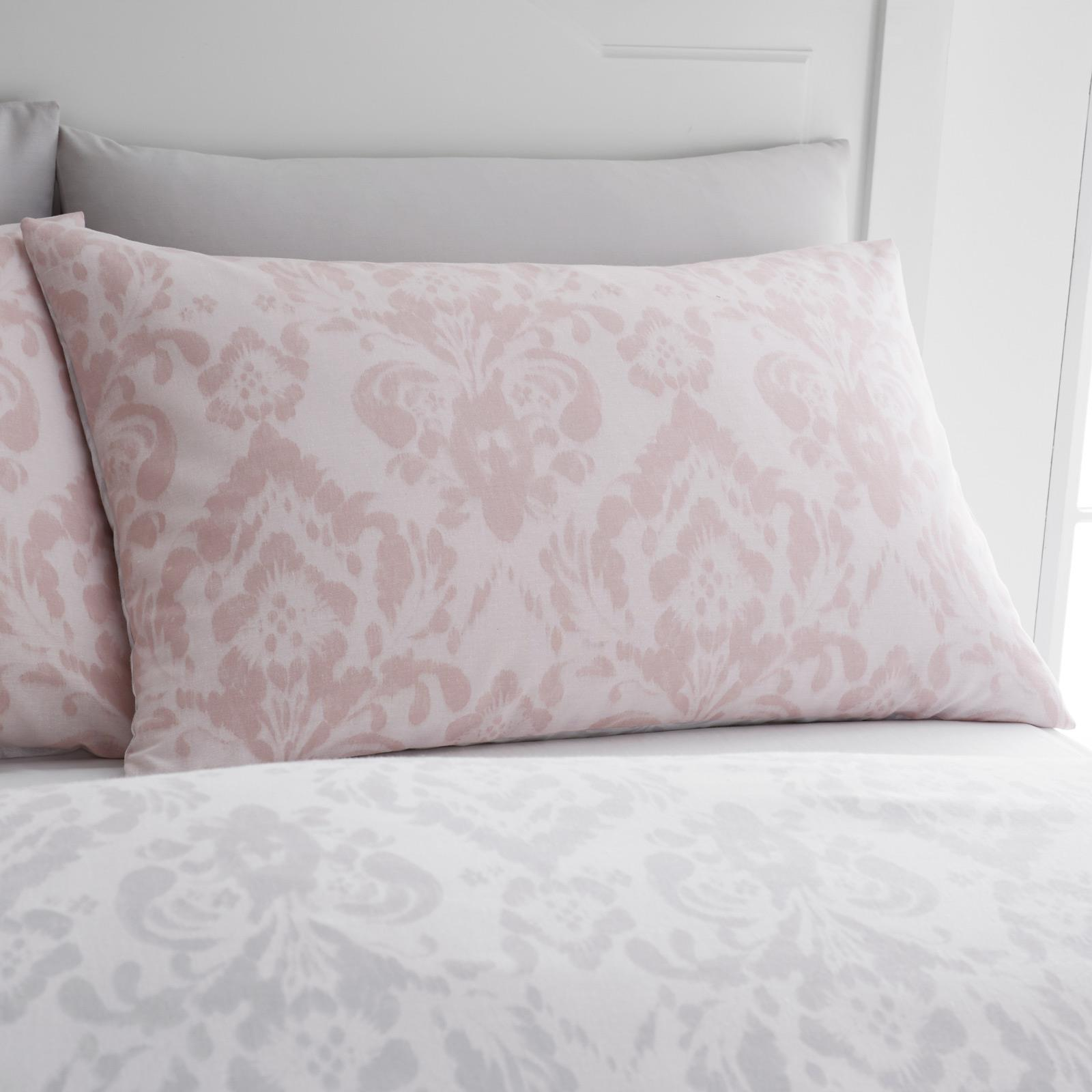 thumbnail 4 - Catherine Lansfield Damask Blush Duvet Covers Pink Grey Quilt Cover Bedding Sets