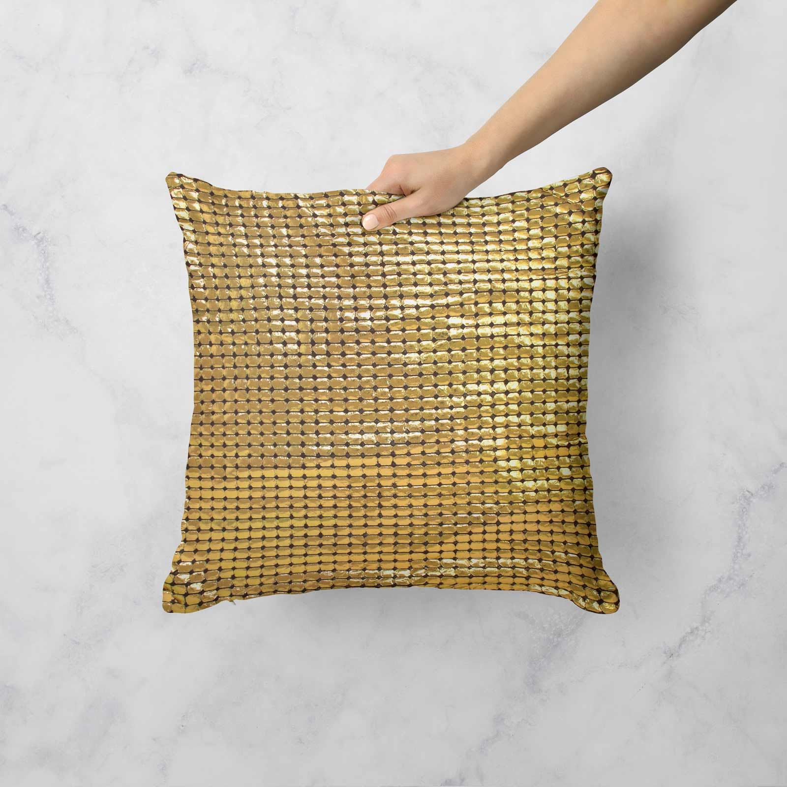 Impresion-de-lamina-metalica-Moderno-Funda-De-Cojin-Almohadon-cubiertas-de-cojines-18-034-X-18-034 miniatura 18